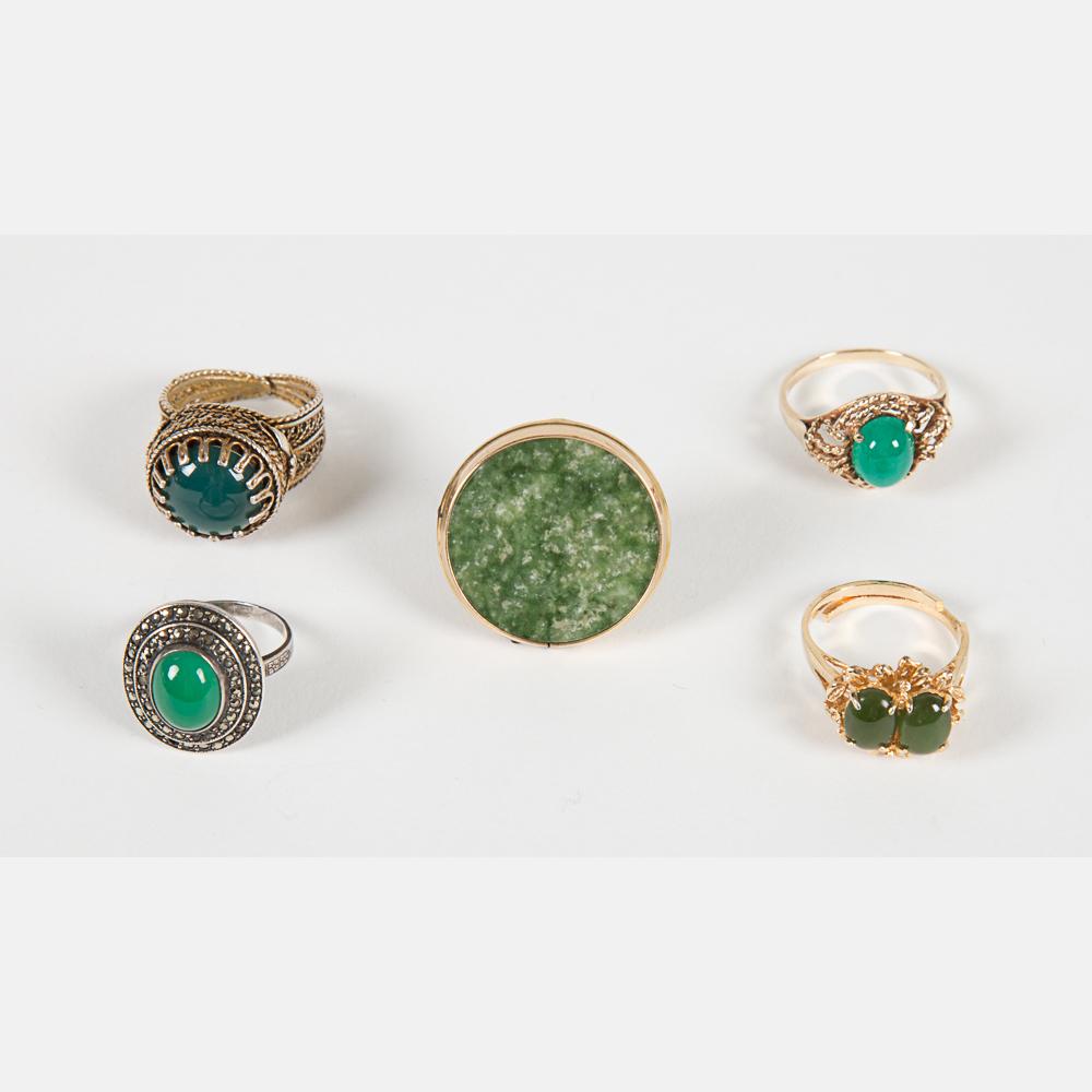 Five Jade Rings-