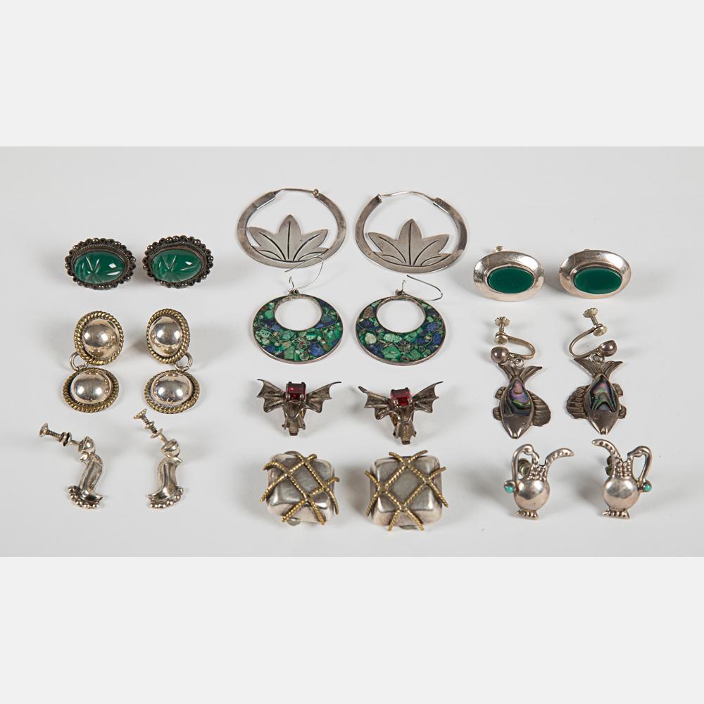 Ten Pairs of Earrings-