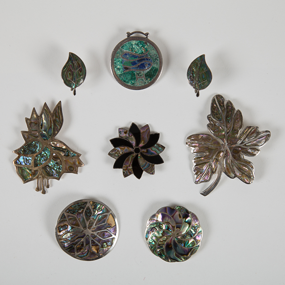Six Mexican Pendants/Brooches-