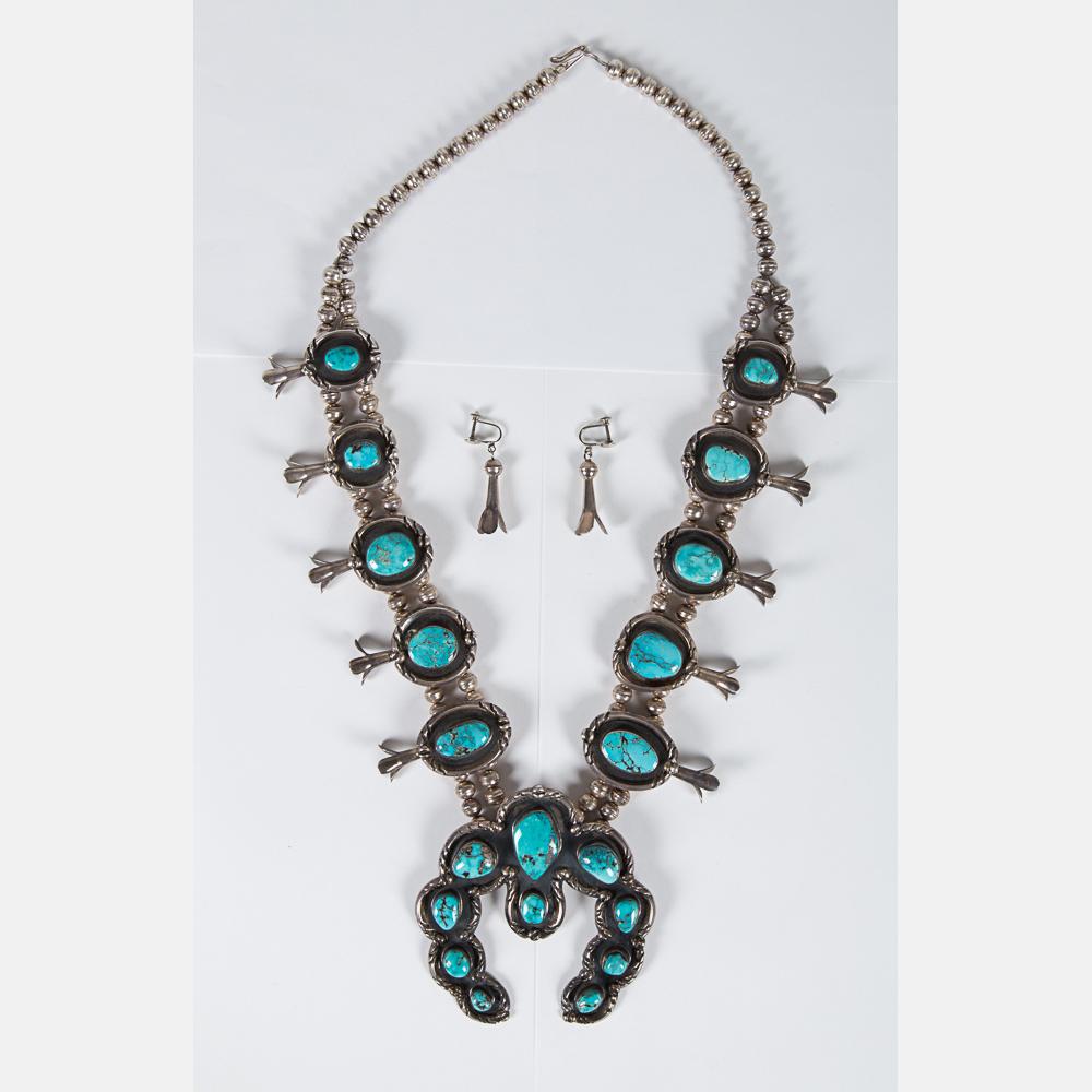 Navajo Squash Blossom Necklace-