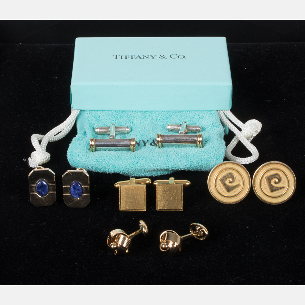 Five Pairs of Designed Cufflinks-