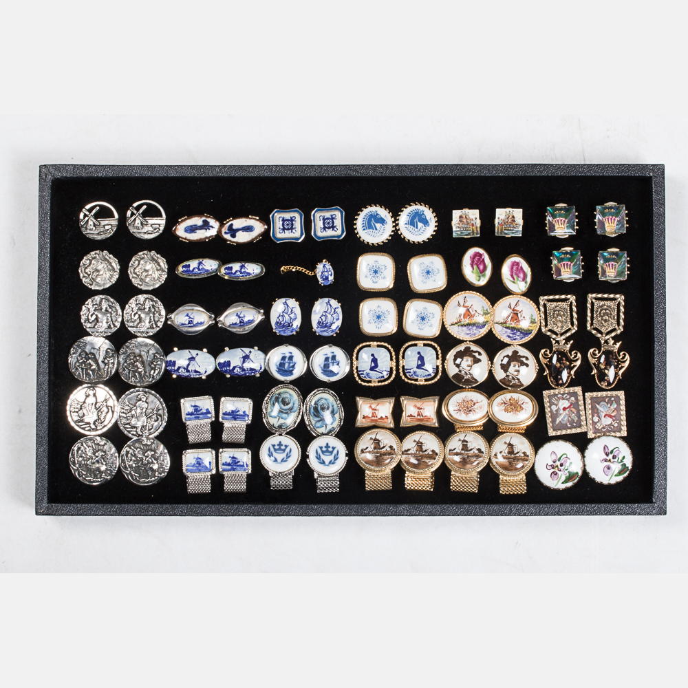 Thirty-Five Pairs of Cufflinks-