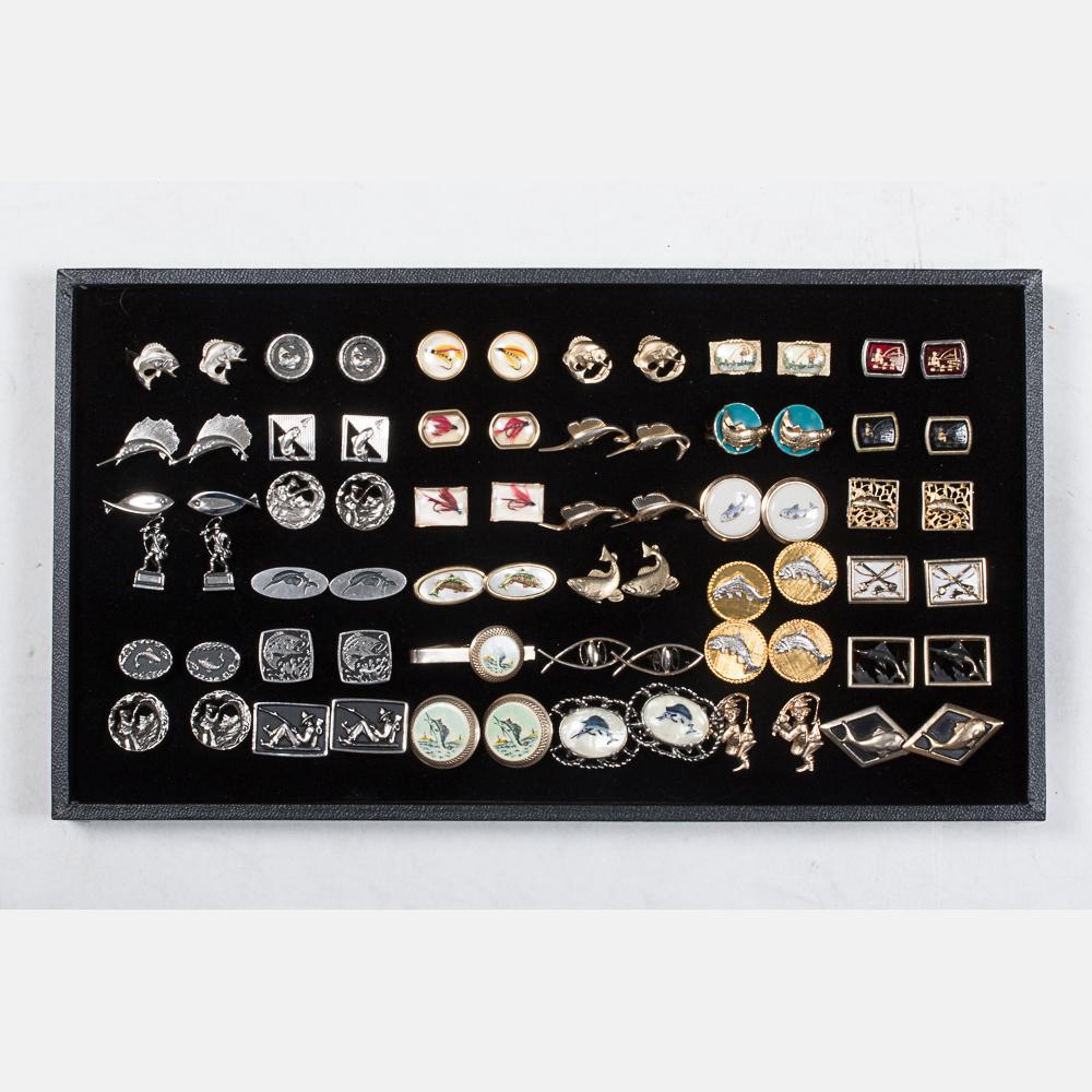 Thirty-Five Pairs of Cufflinks-