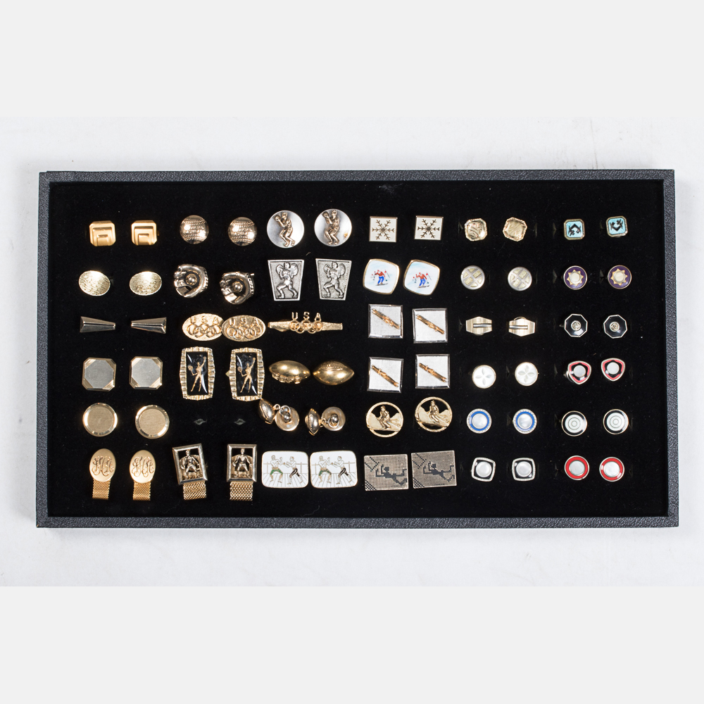 Thirty-Four Pairs of Cufflinks-