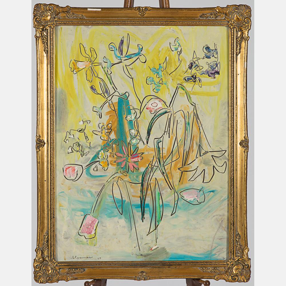 Sterling Boyd Strauser-Floral Still Life-1969