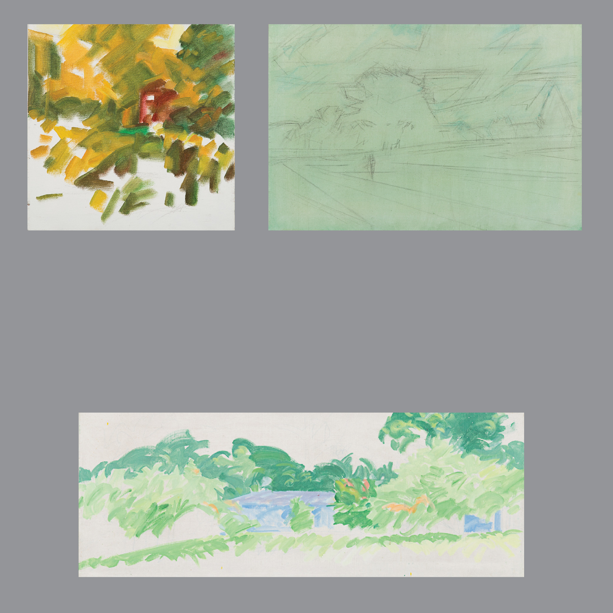 Marco De Marco-A Group of Three Landscape Studies-