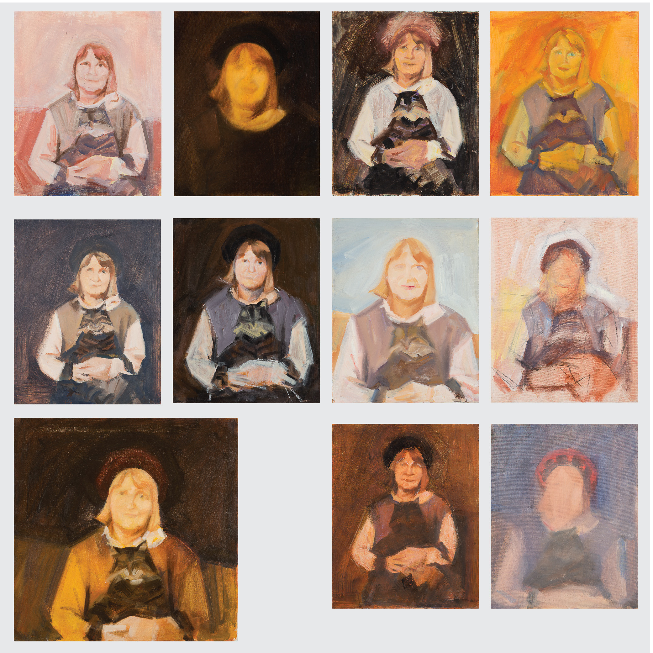 Marco De Marco-A Group of Eleven Studies Depicting Wilma de Marco-