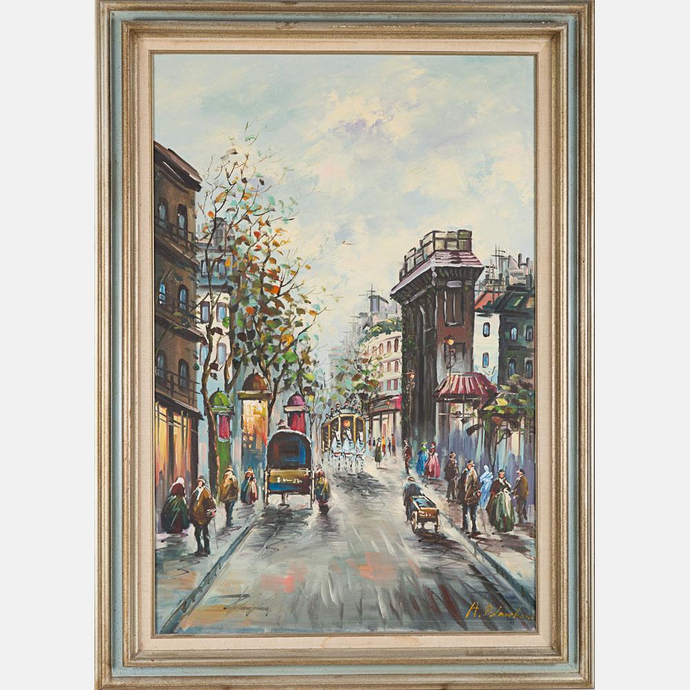 Antoine Blanchard-Paris Street Scene-