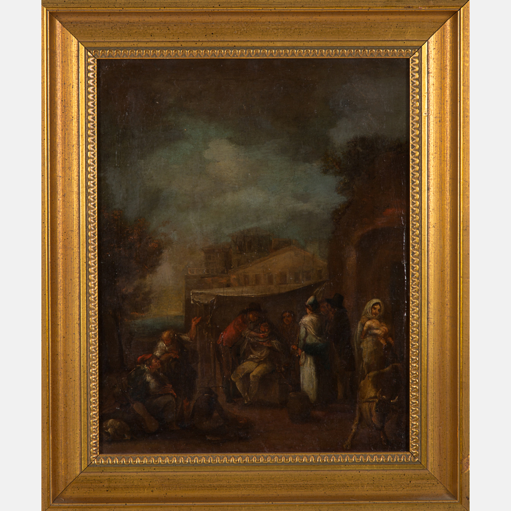 Nicolas-Louis-Albert Delerive-Attributed to Nicolas Louis Albert Delerive - Village Scene-