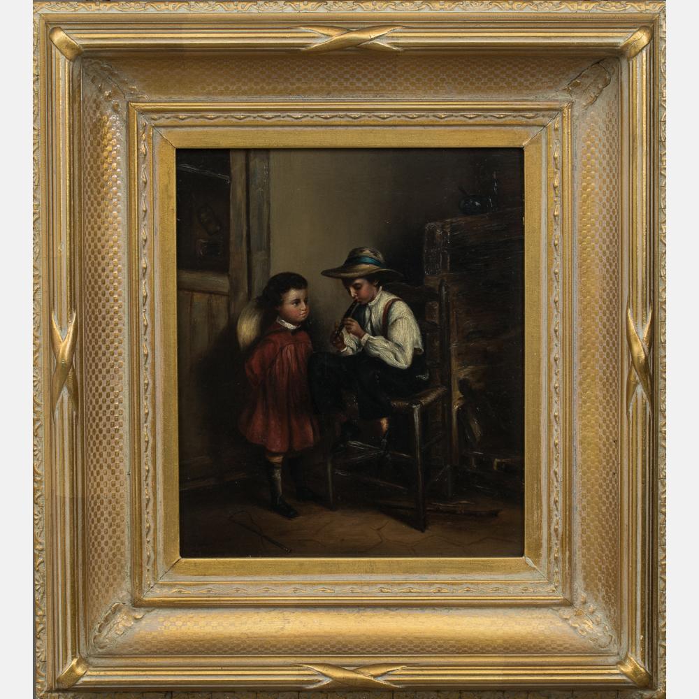 Artist Unknown - Interior Scene with Children-