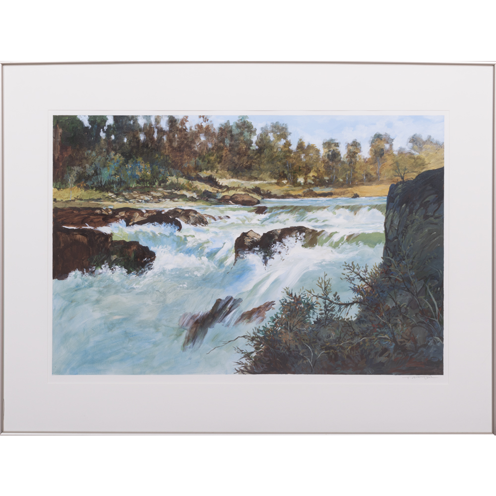Don Trager-River Scene-