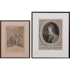 Joseph Goupy-An Engraving of 'Glaucus & Scylla'