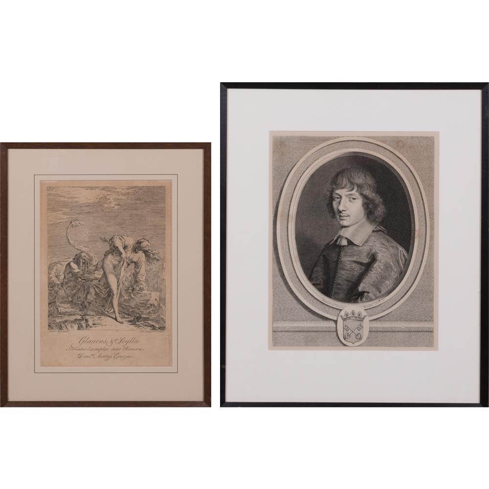 Joseph Goupy-An Engraving of 'Glaucus & Scylla'-