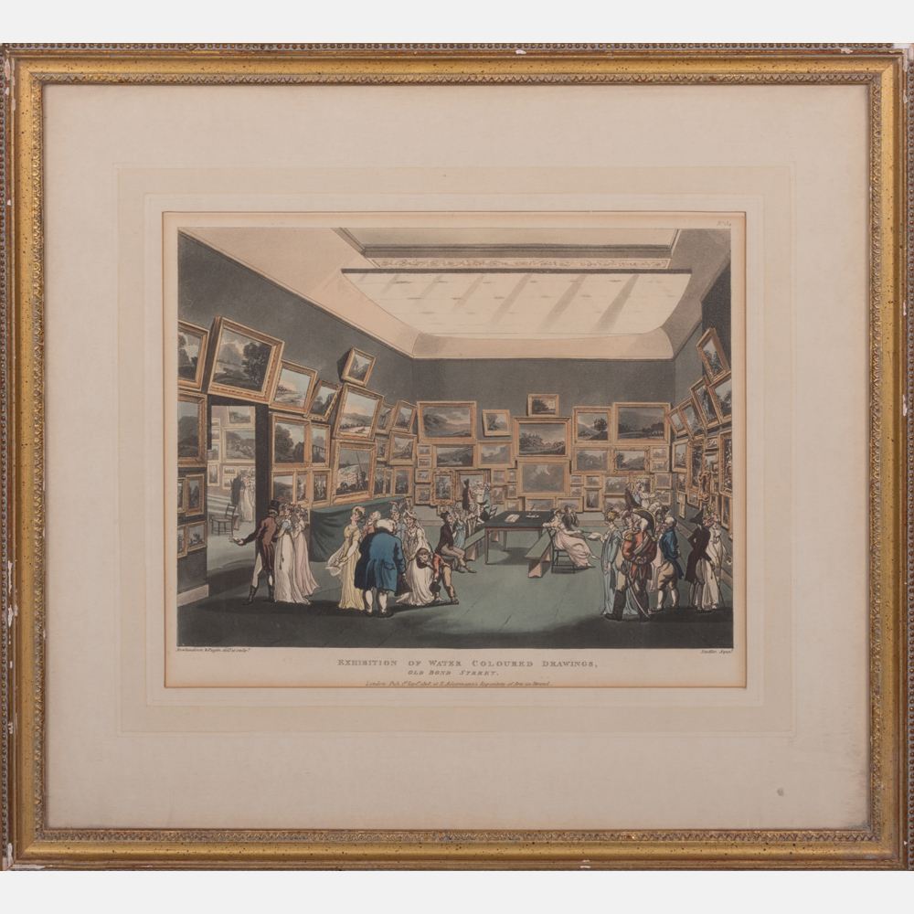 Thomas Rowlandson-Exhibition of Water Colored Drawings, Old Bond Street-