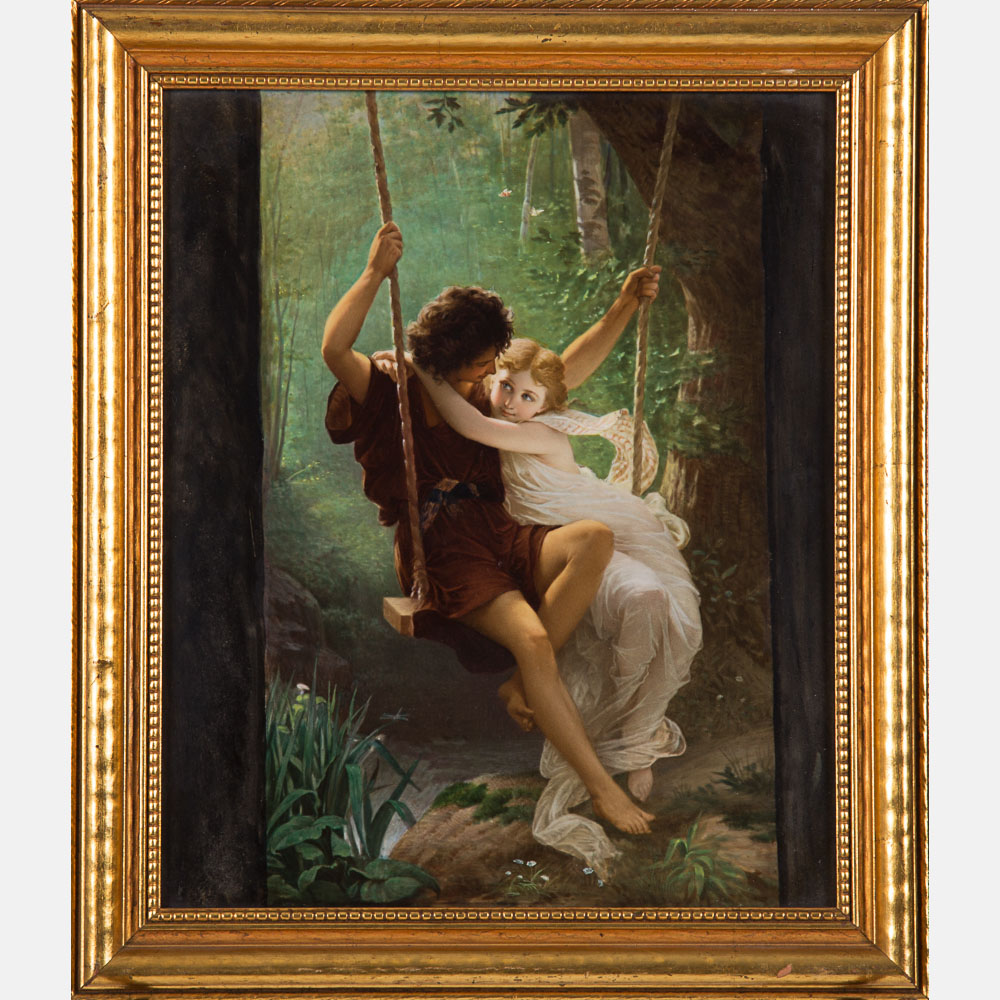 KPM Painted Porcelain Plaque-
