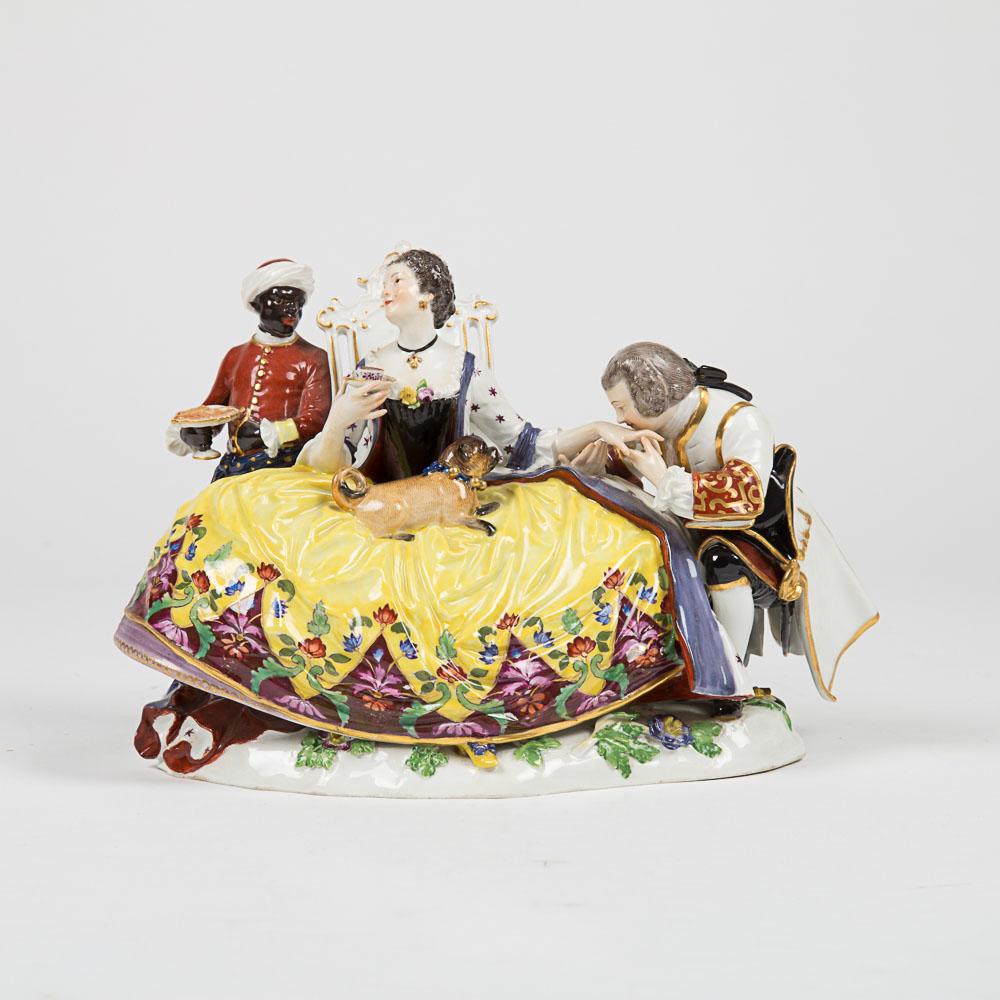 Meissen Porcelain Crinoline Group-
