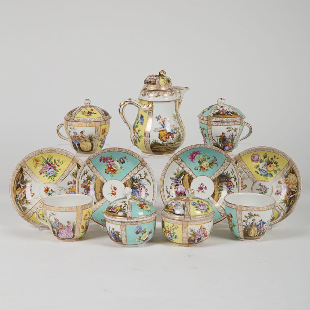 Partial Meissen Porcelain Coffee Service-