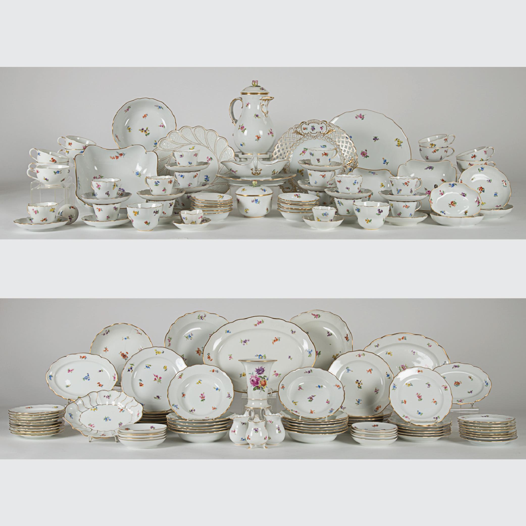 Meissen Porcelain Dinner Service-