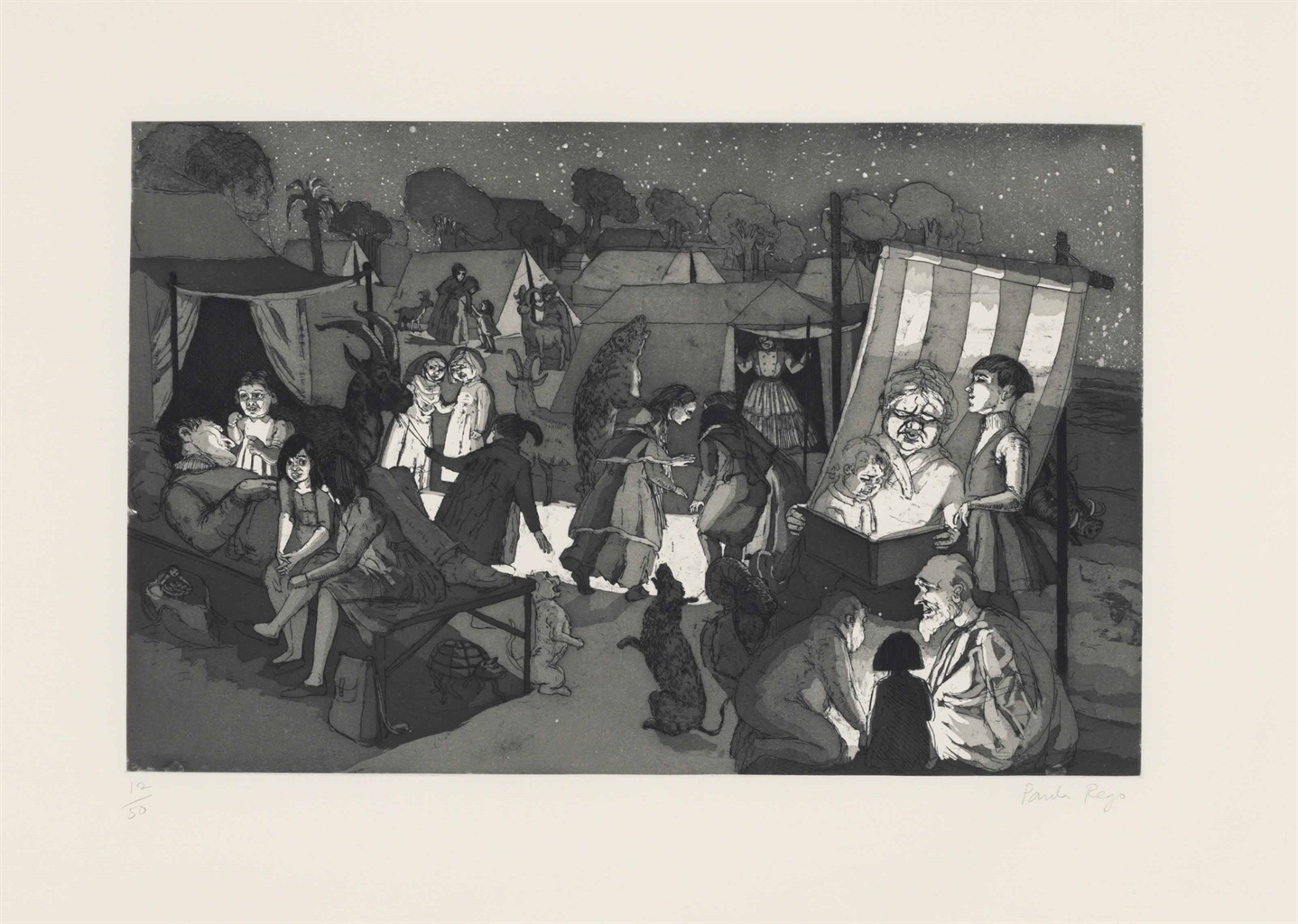 Paula Rego-The Encampment (Rosenthal 30)-1989