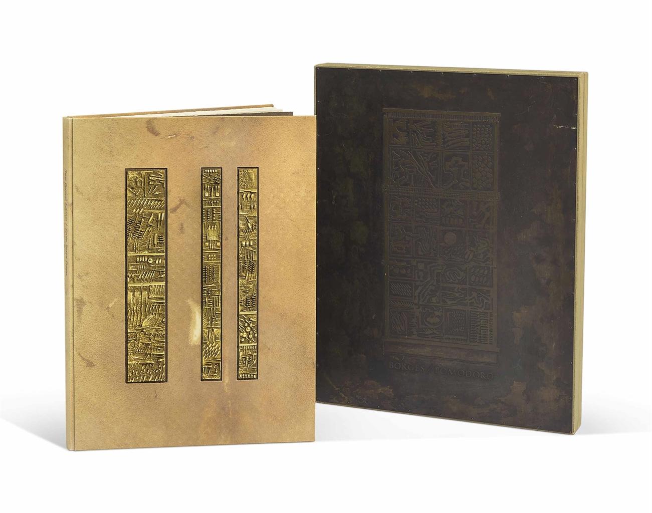 Arnaldo Pomodoro-Siete Poemas Sajones ('Seven Saxon Poems') by Jorge Luis Borges-1974