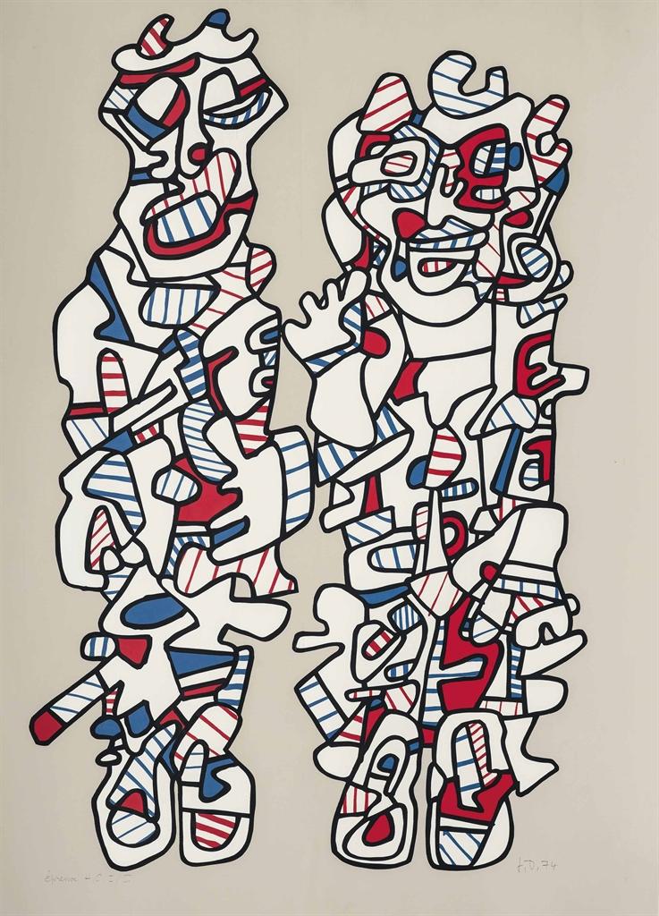 Jean Dubuffet-Delegation (Webel 1167)-1974