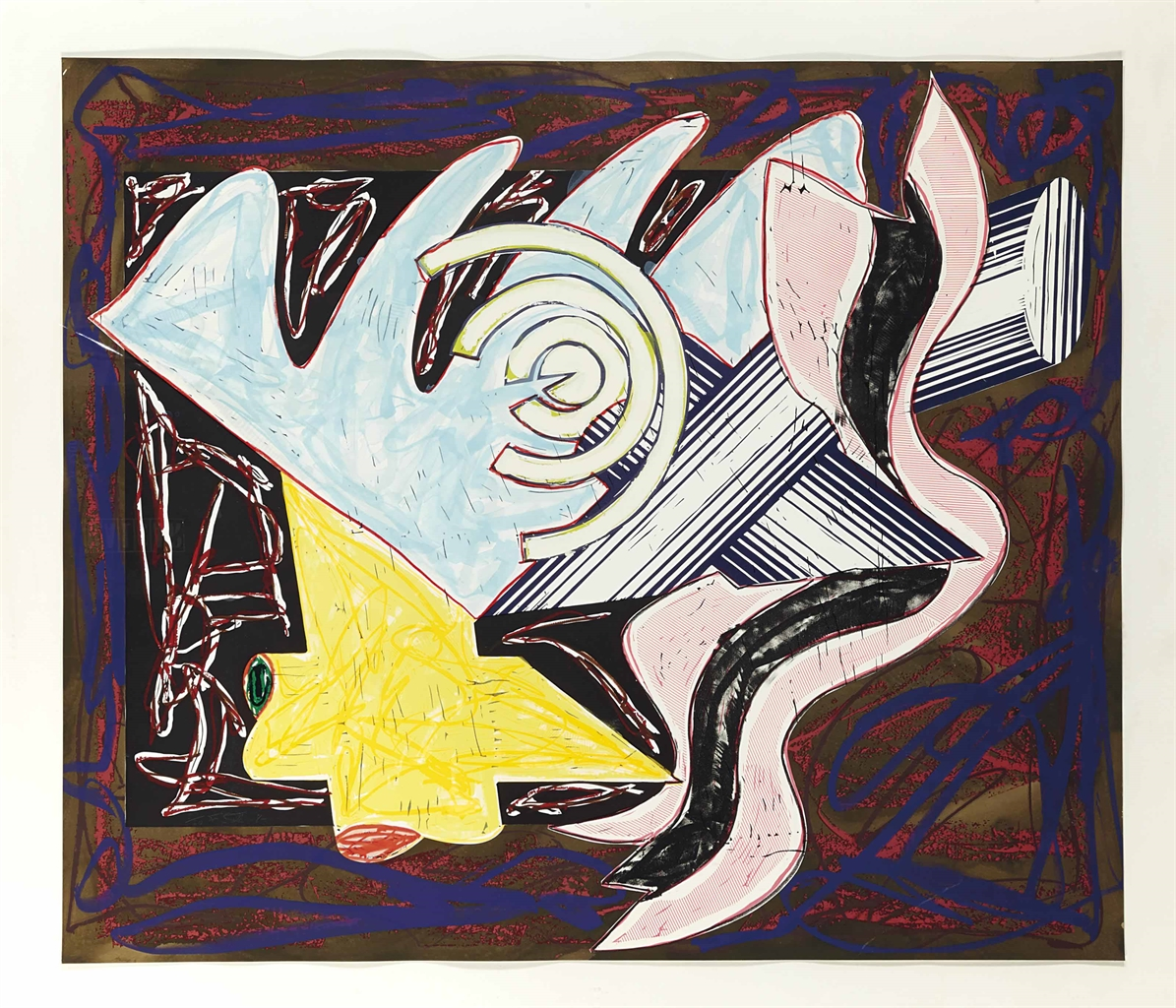 Frank Stella-A Hungry Cat ate up the Goat, from: Illustrations after El Lissitzy's Had Gadya (Axsom 172)-1984