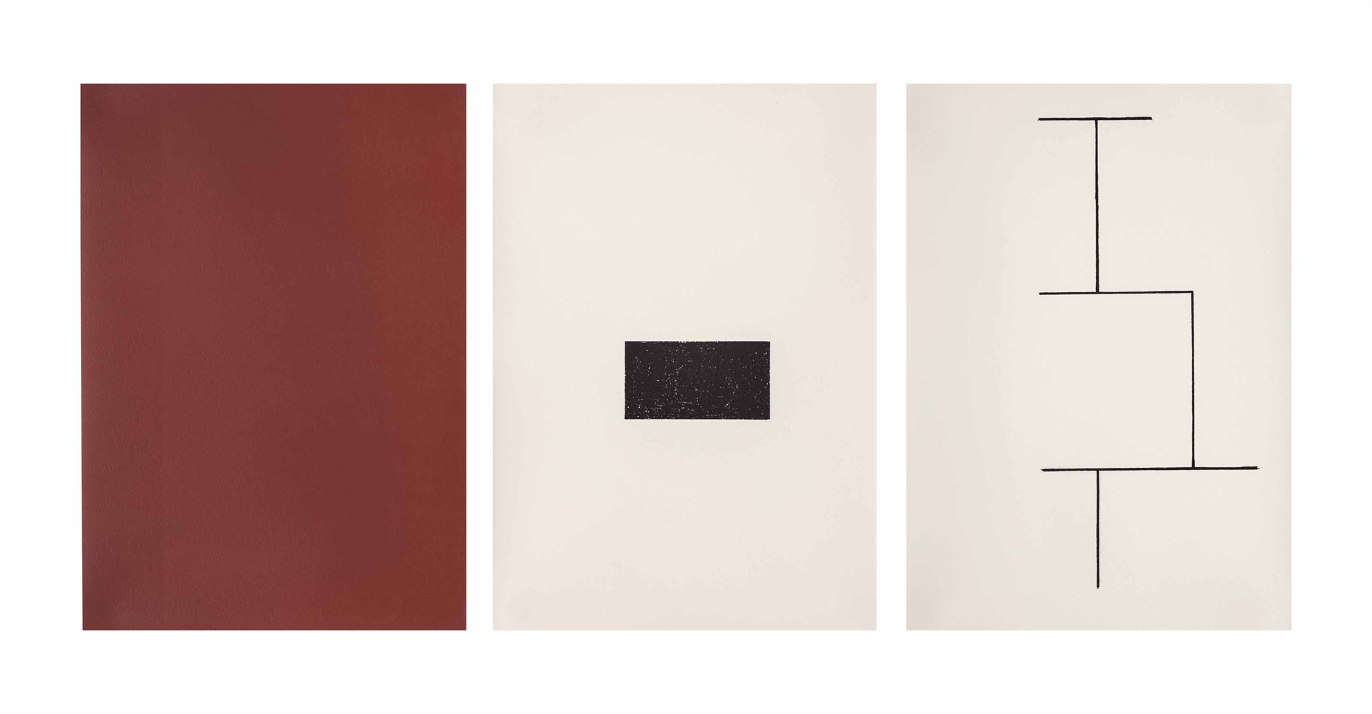 Blinky Palermo-Mappe zur Wandmalerei Hamburger Kunstverein (Jahn 33)-1973