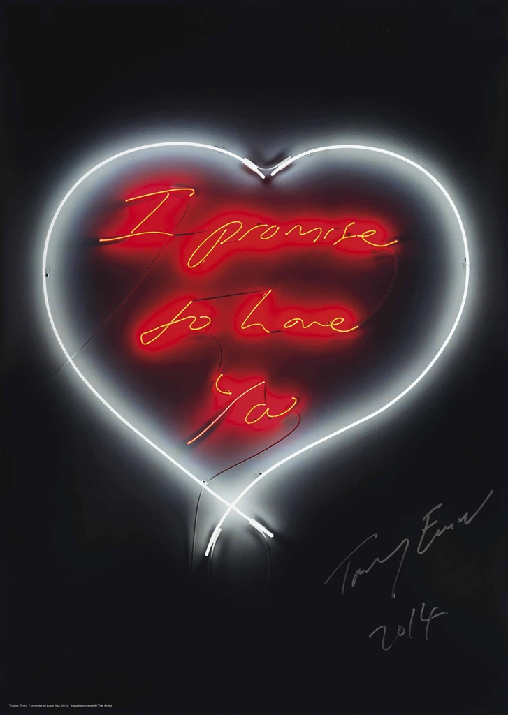 Tracey Emin-I Promise To Love You-2014