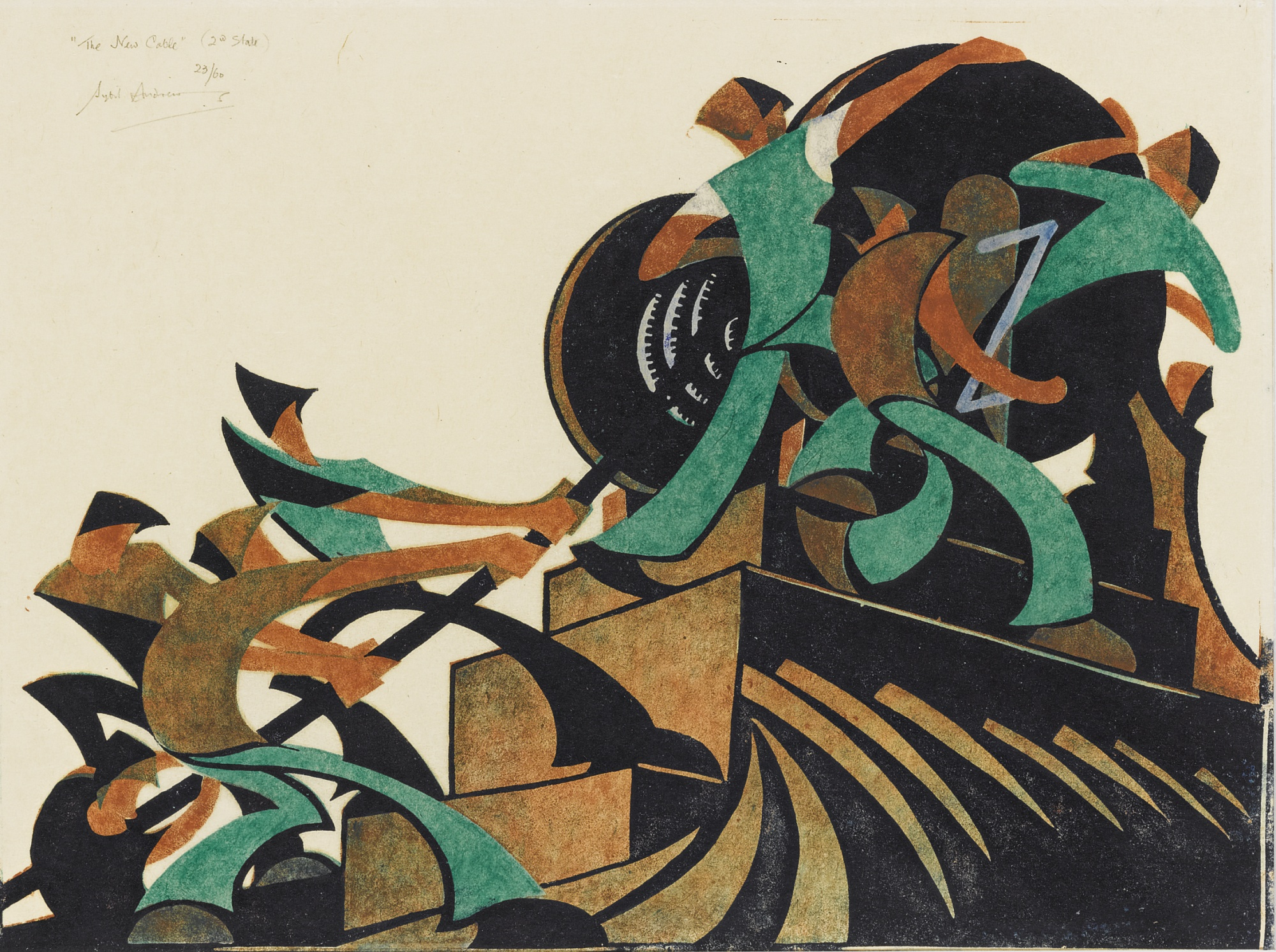 Sybil Andrews-The New Cable (Coppel Sa17)-1931