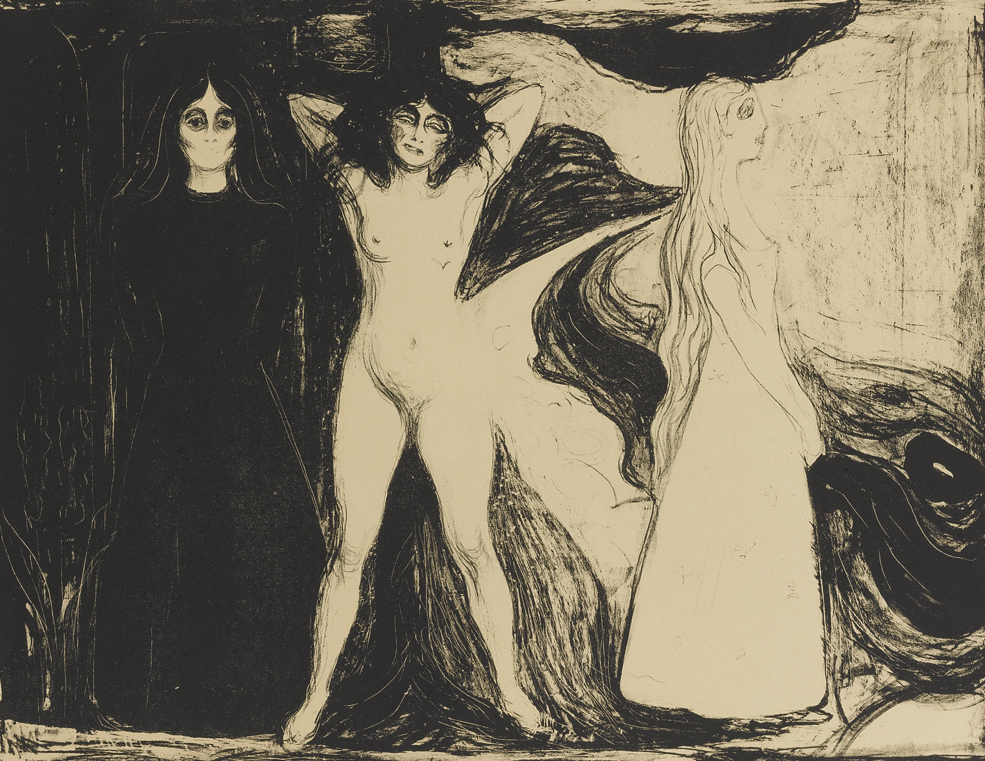 Edvard Munch-Woman (W. 147; S. 122)-1899