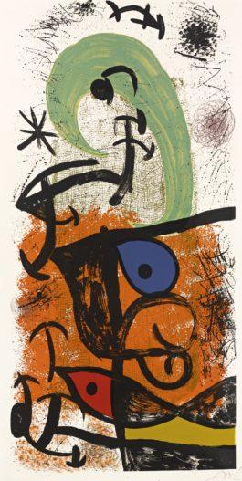 Joan Miro-La Meneuse De Lune (Mourlot 1029)-1975