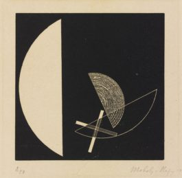 Laszlo Moholy-Nagy-Segments Of A Circle With Cross (See Passuth 132)-1923