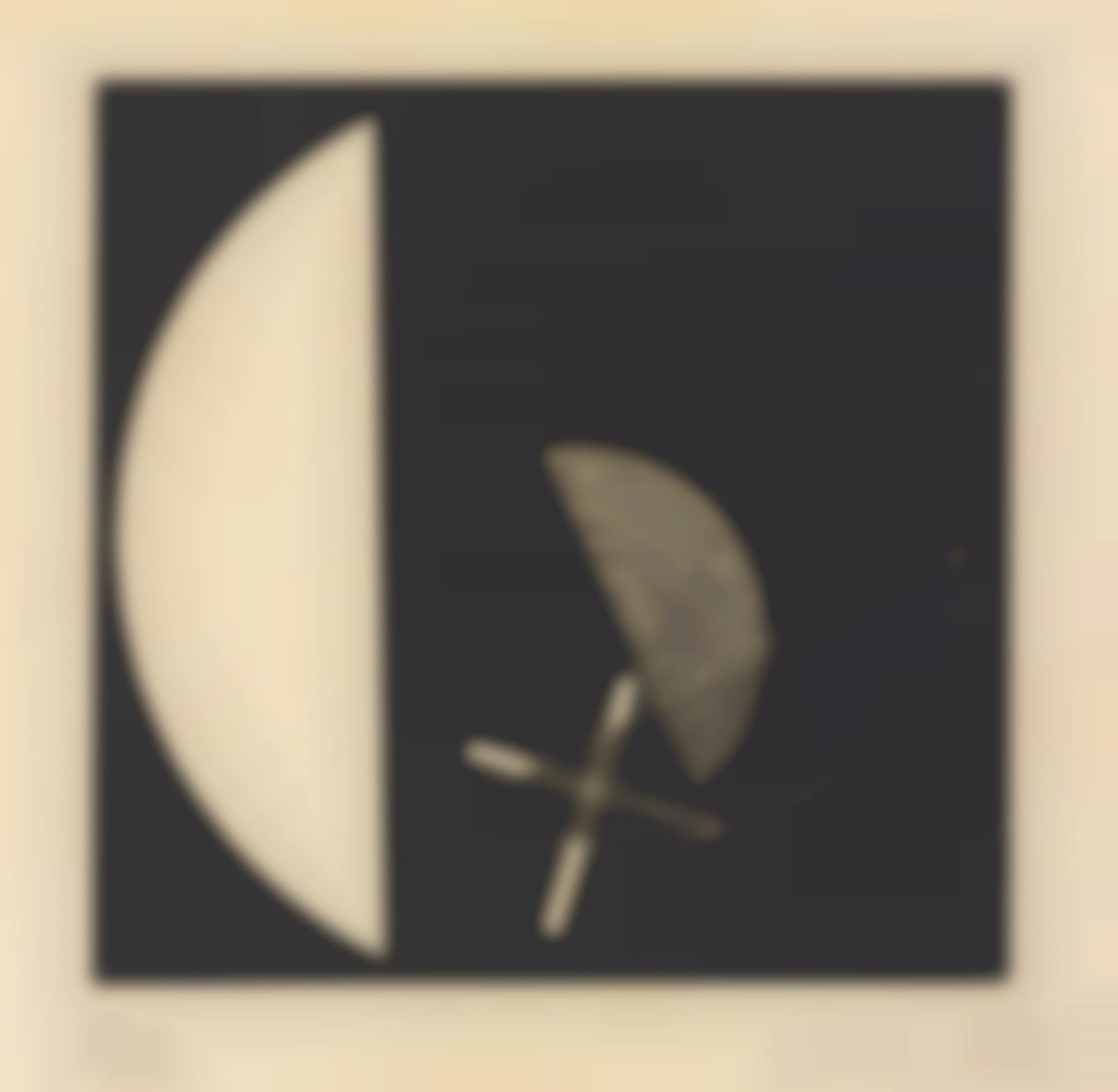 Laszlo Moholy-Nagy-Segments Of A Circle With Cross (See Passuth 132)-1923