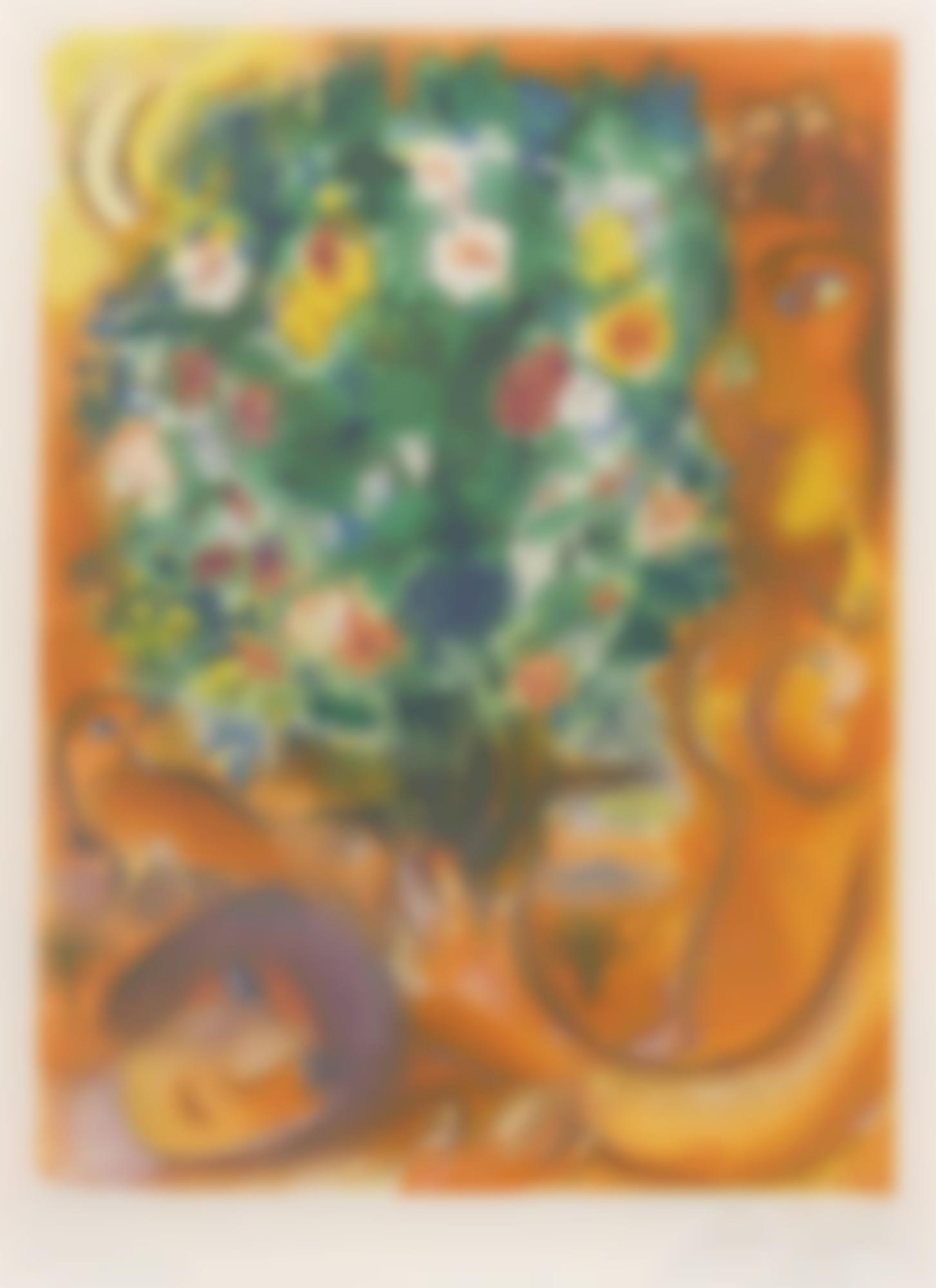 Charles Sorlier-Charles Sorlier after Marc Chagall - Femme Au Bouquet (M. Cs 37)-1967