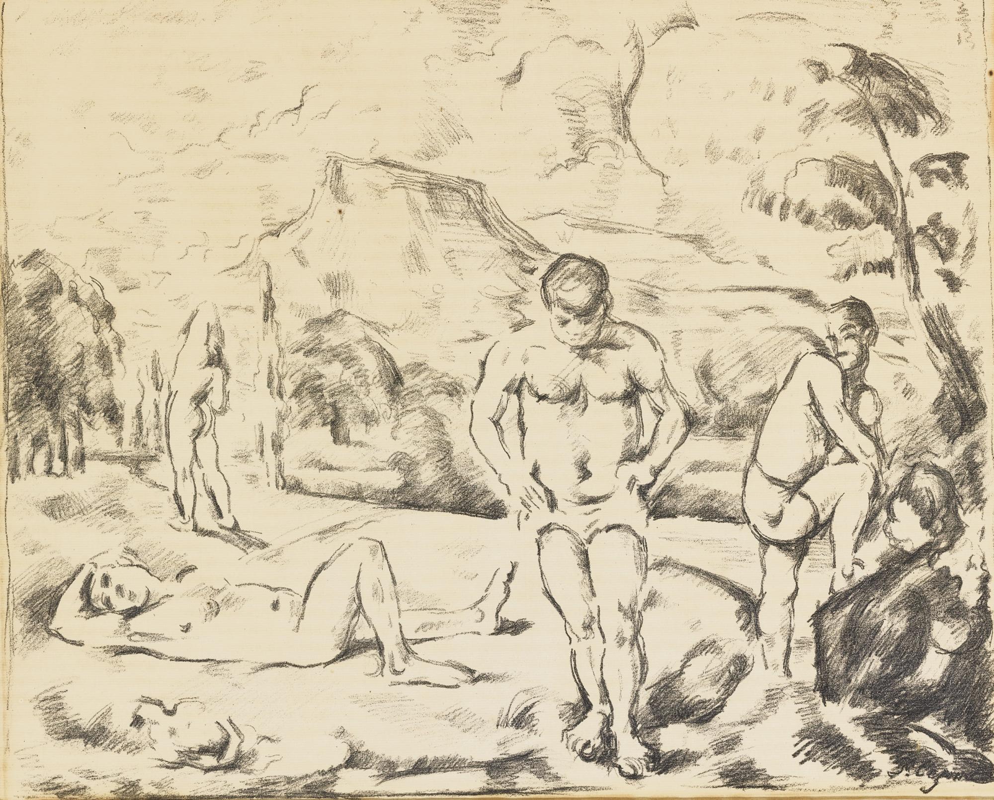 Paul Cezanne-The Large Bathers (Venturi 1157)-1898