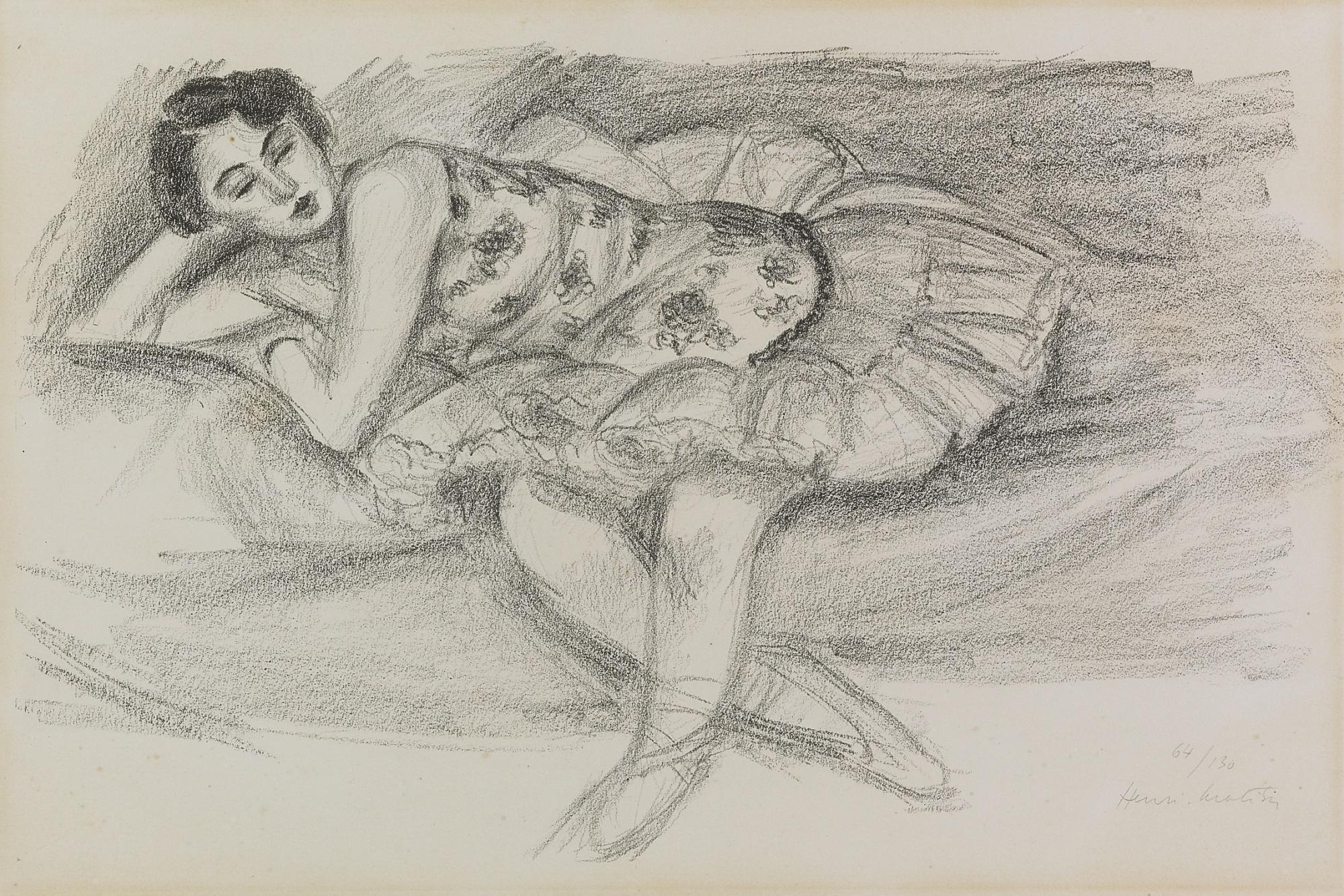 Henri Matisse-Danseuse Au Divan Pliee En Deux (D. 489)-1926