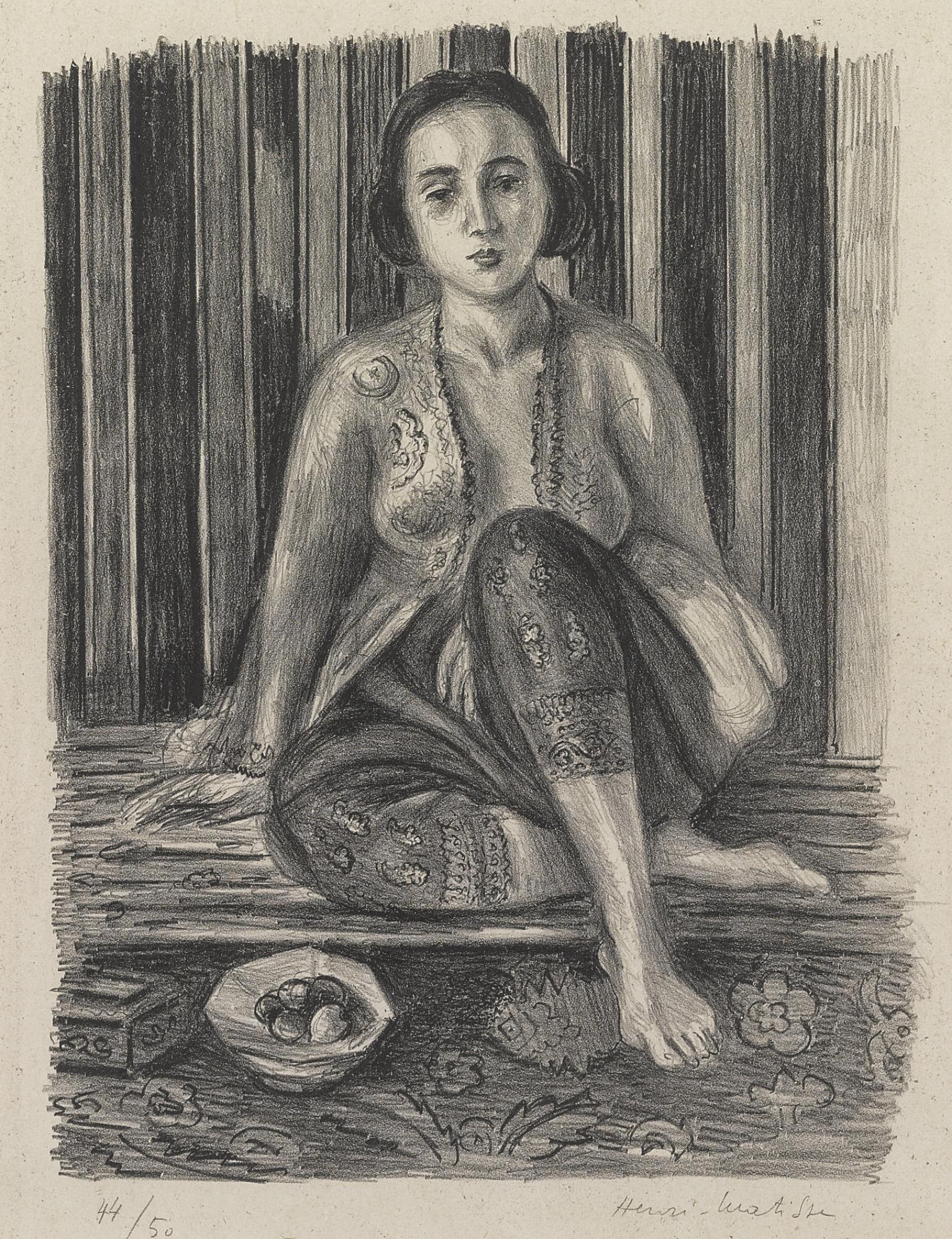 Henri Matisse-Odalisque A La Coupe De Fruits (D. 466)-1925