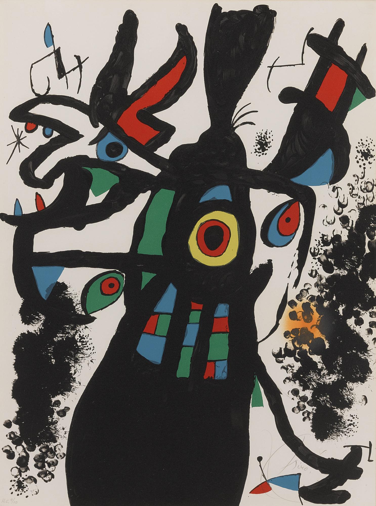 Joan Miro-Montroig 3 (M. 955)-1974