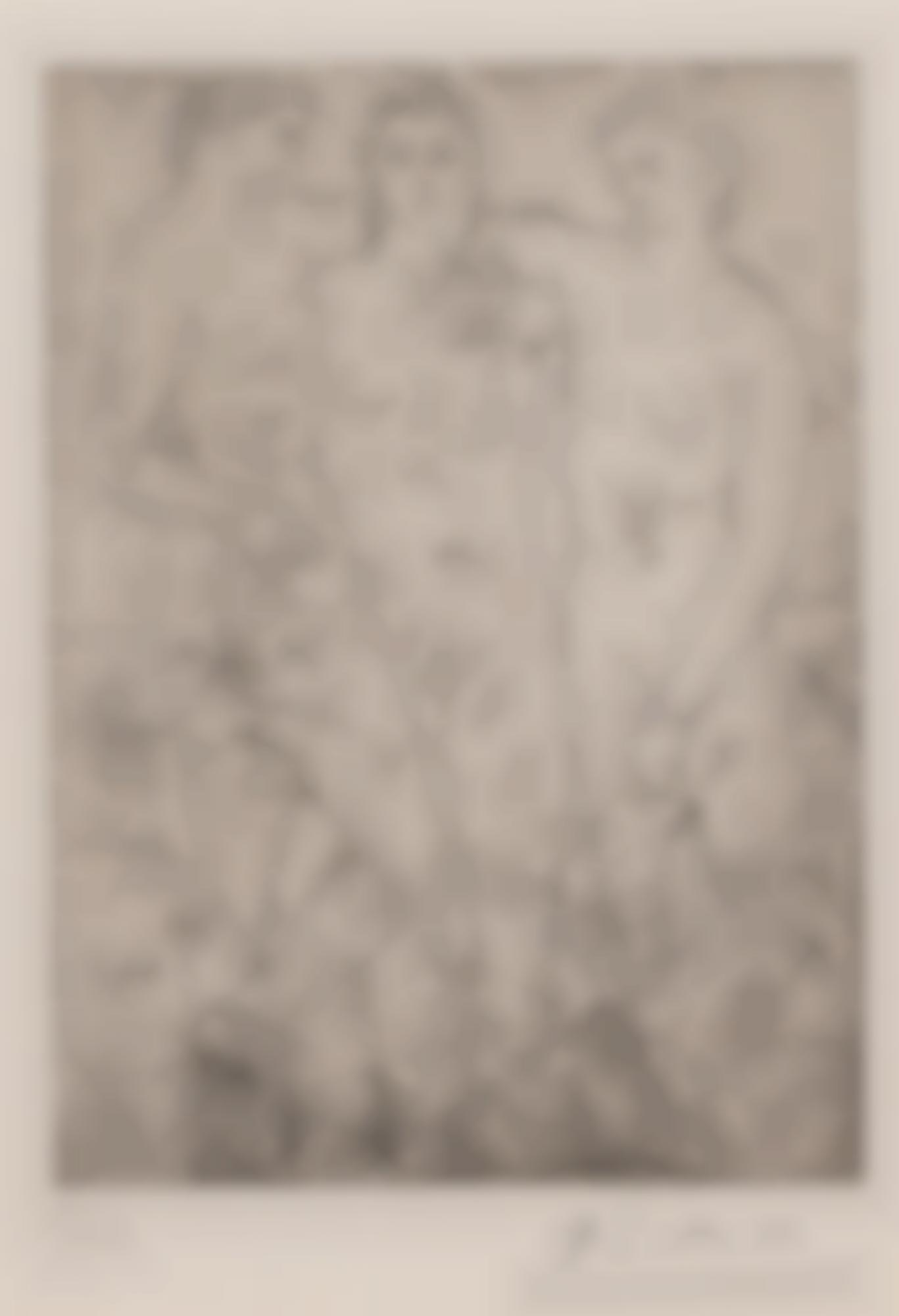 Pablo Picasso-Les Trois Baigneuses. II (B. 61; Ba. 107)-1923