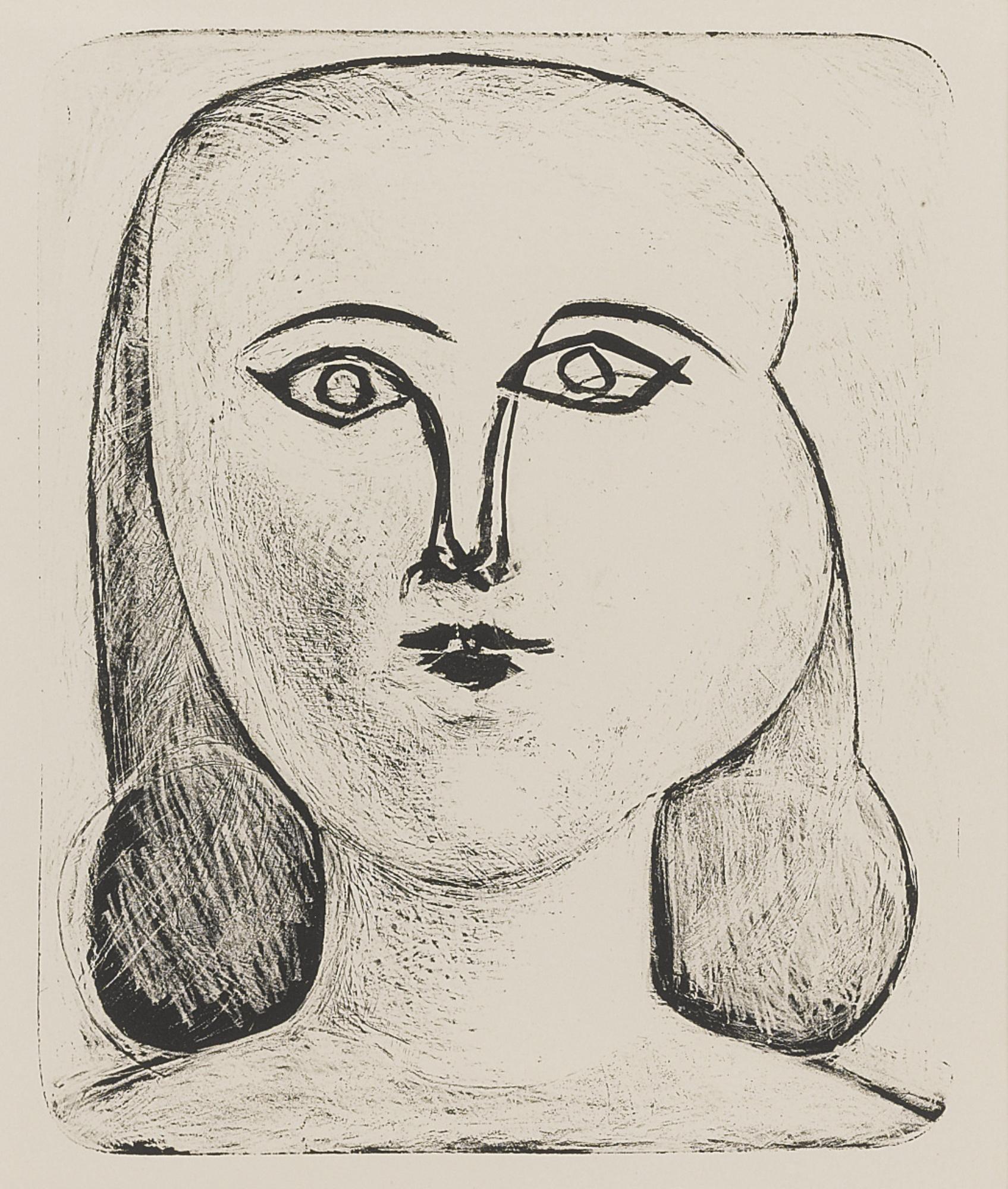 Pablo Picasso-Tete De Jeune Fille (B. 393; M. 9)-1946