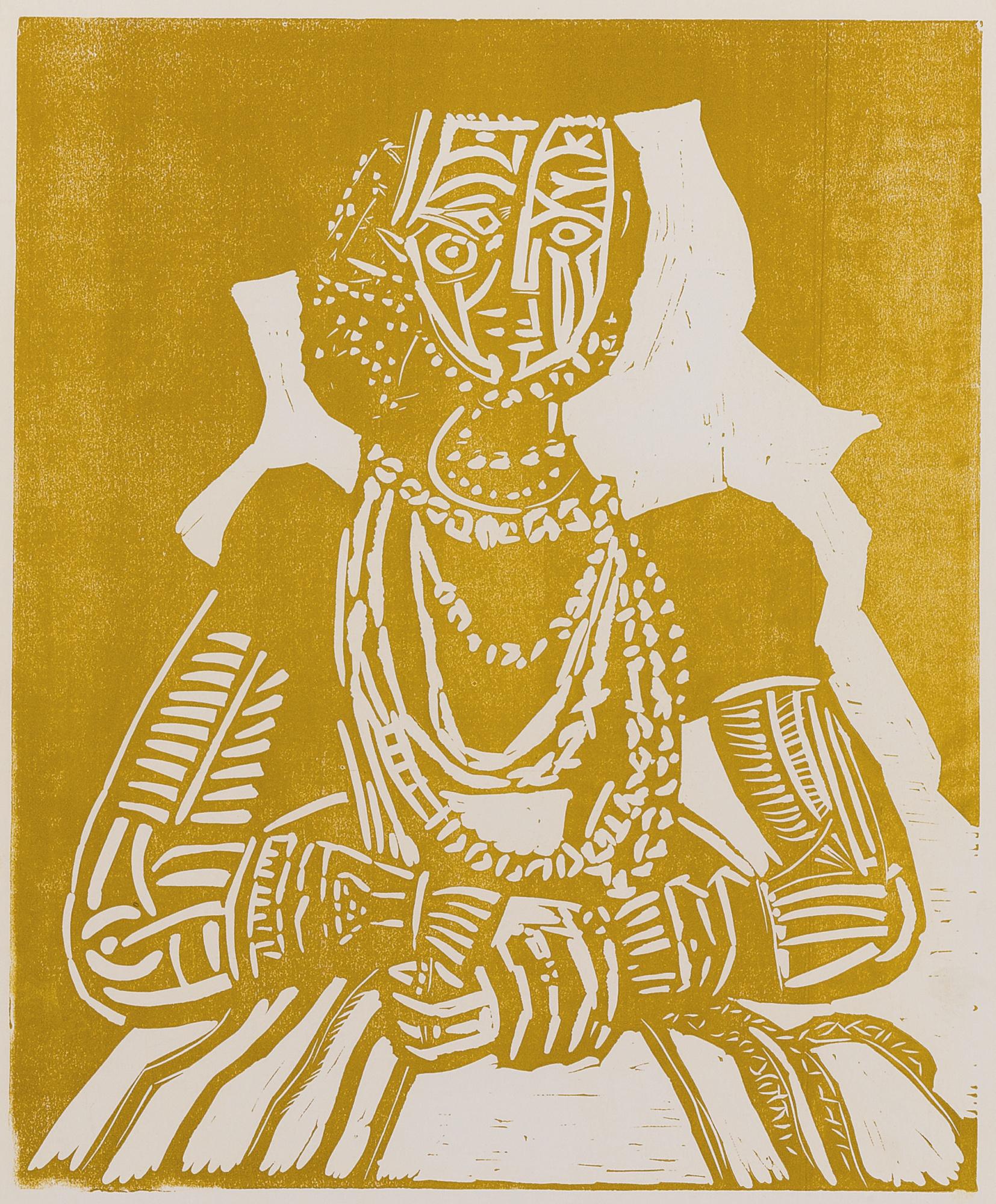 Pablo Picasso-Portrait De Jeune Fille D'Apres Cranach Le Jeune. II (B. 859 Ba. 1053)-1958