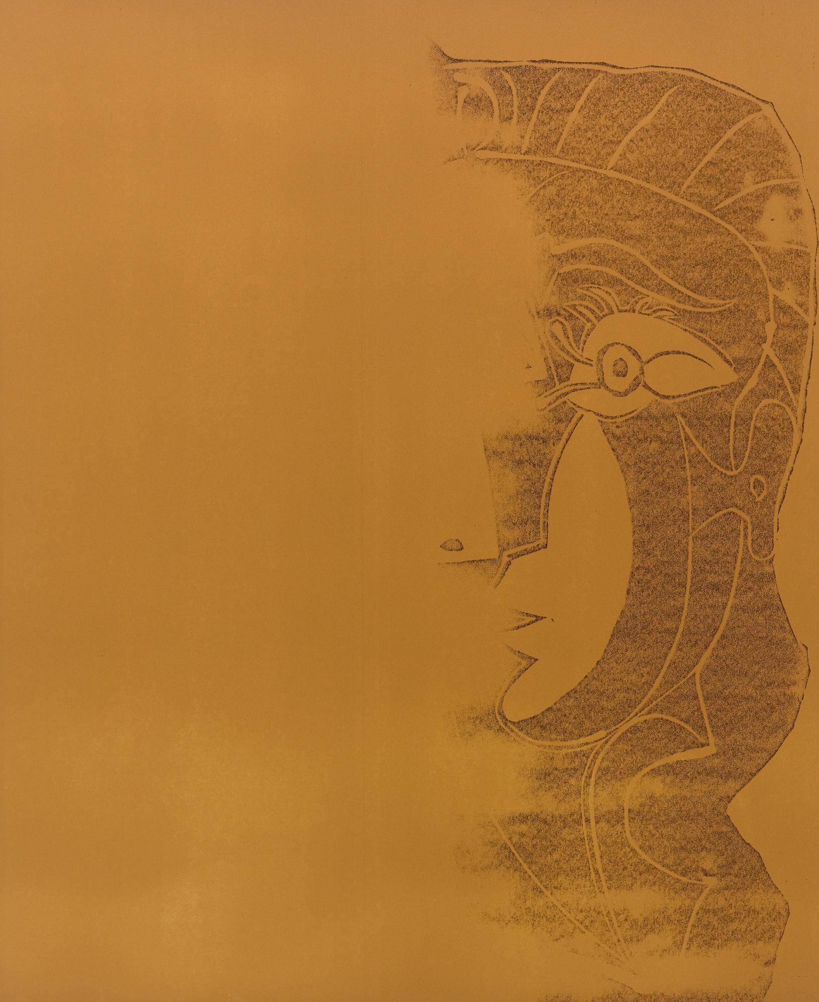 Pablo Picasso-Portrait De Jacqueline De Face. I (Tete De Femme) (B. 1064; Ba. 1278)-1961