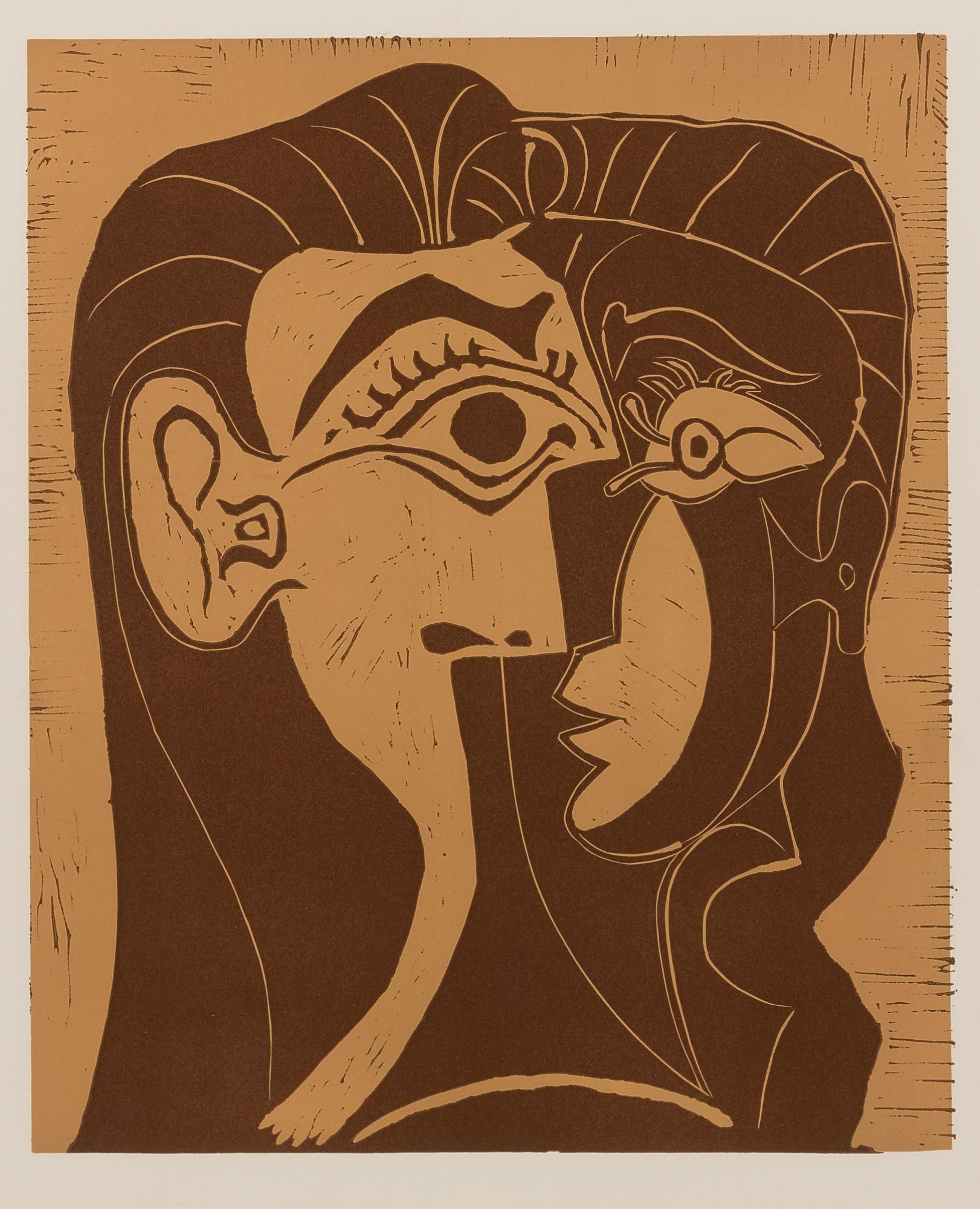 Pablo Picasso-Portrait De Jacqueline De Face. I (Tete De Femme)(B. 1064; Ba. 1278)-1961