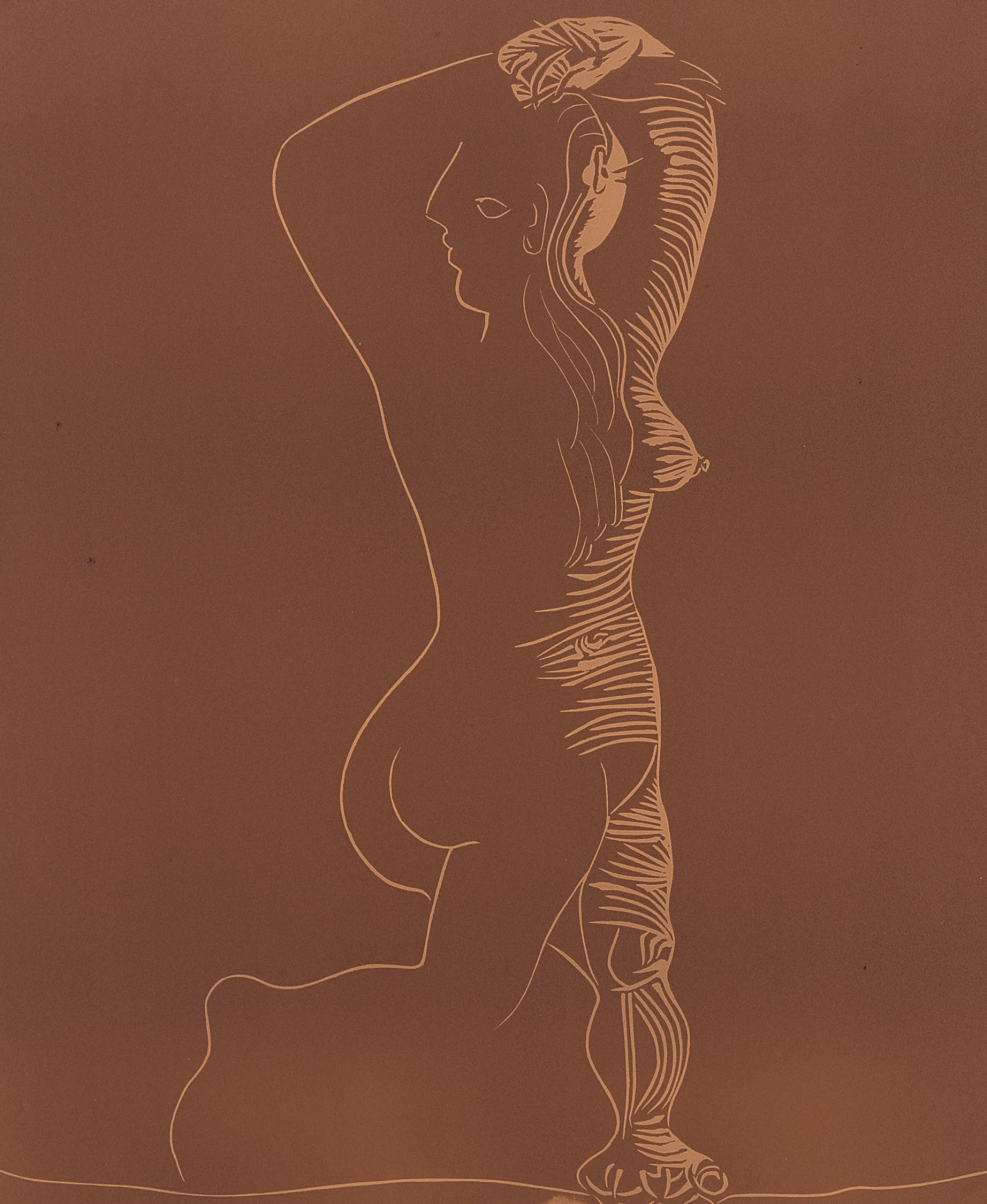 Pablo Picasso-Grand Nu Dansant (Grand Nu De Femme)(B. 1085; Ba. 1309)-1962
