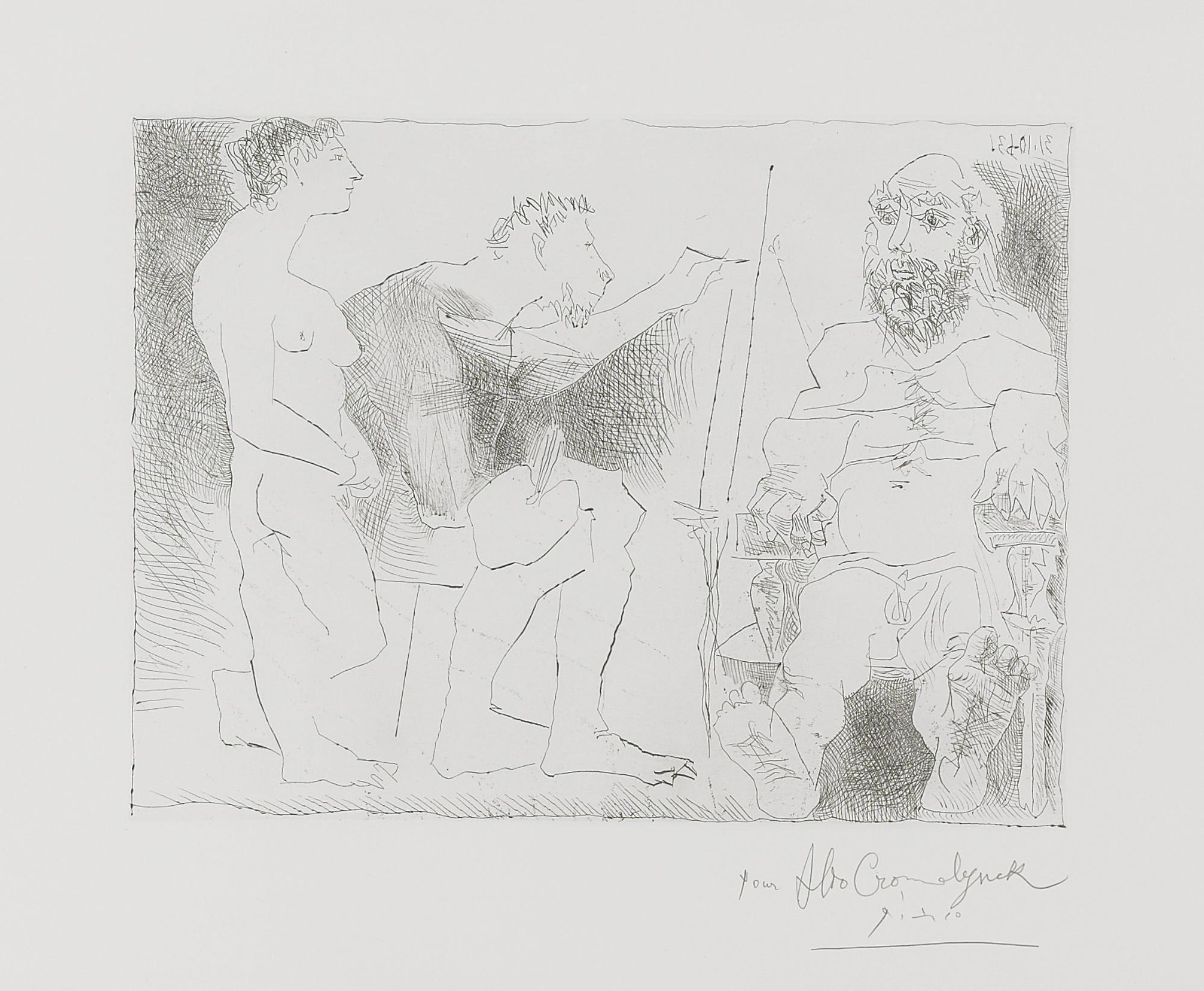Pablo Picasso-Peintre Au Travail (B. 1117; Ba. 1111)-1963