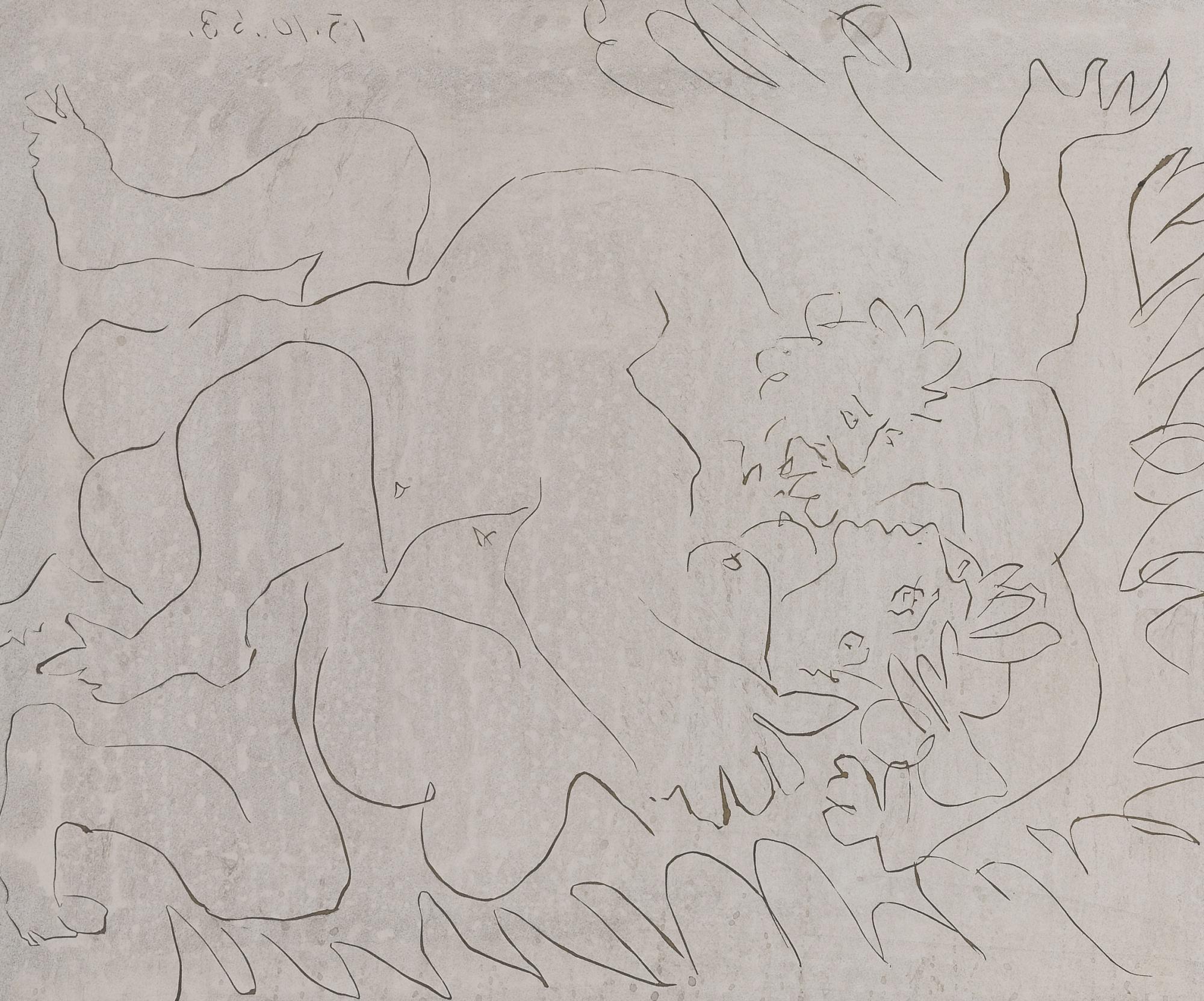 Pablo Picasso-Etreinte (L'Entriente II)(B. 1151; Ba. 1343)-1963