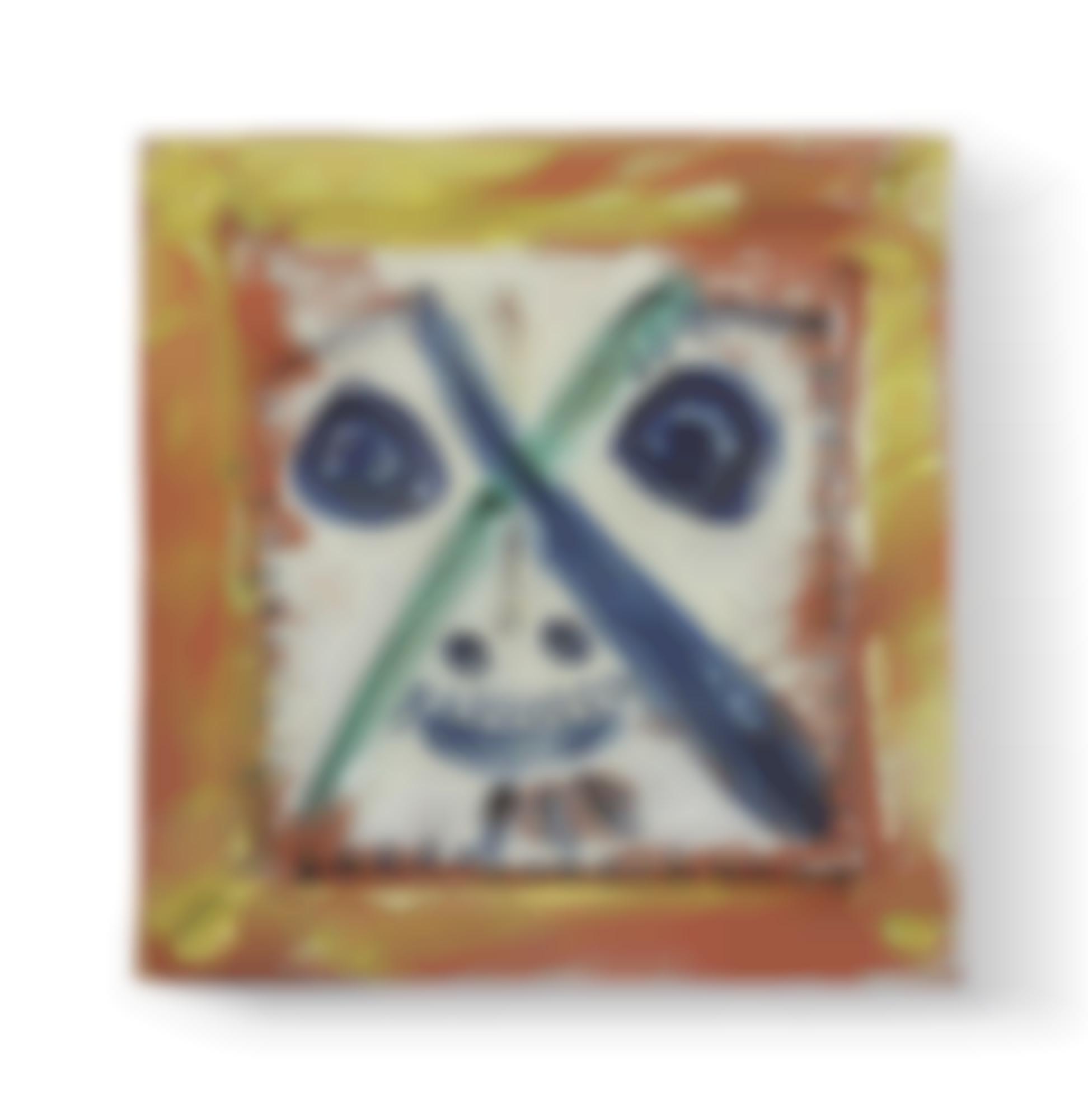 Pablo Picasso-Visage Aux Traits En X (R. 556)-1969