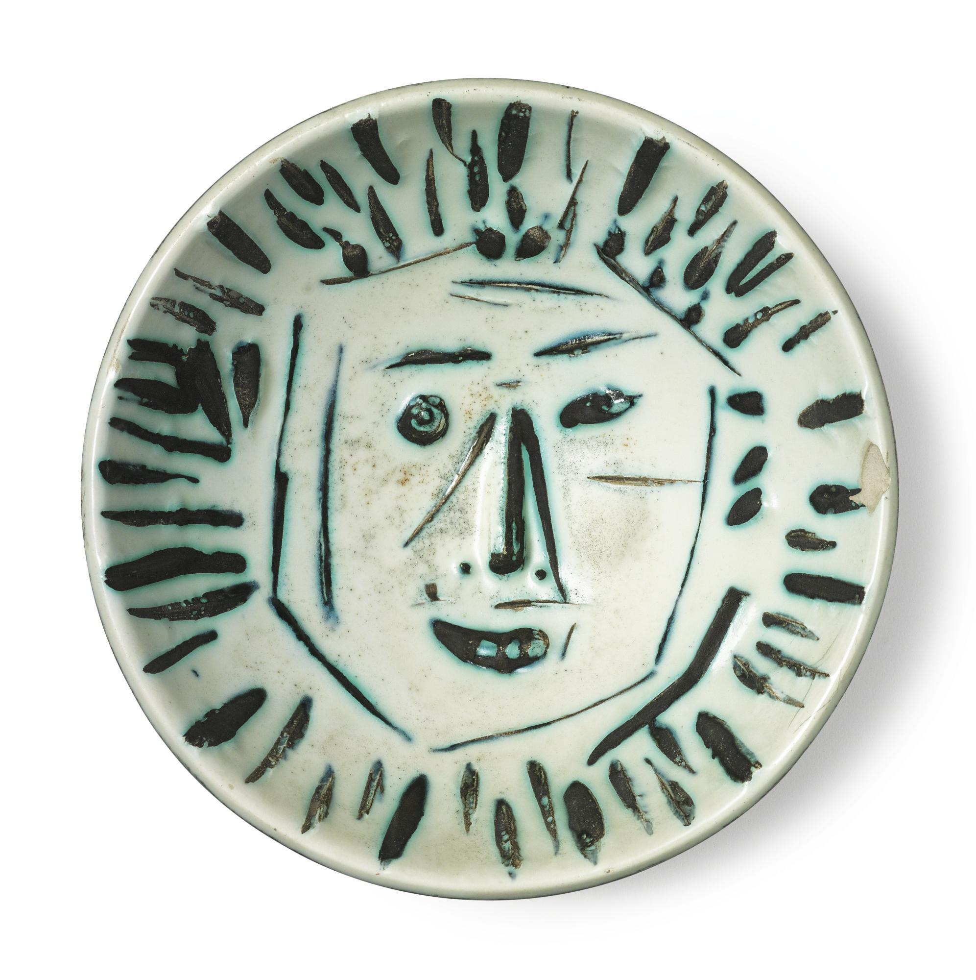 Pablo Picasso-Visage De Face(A. R. 454)-1960