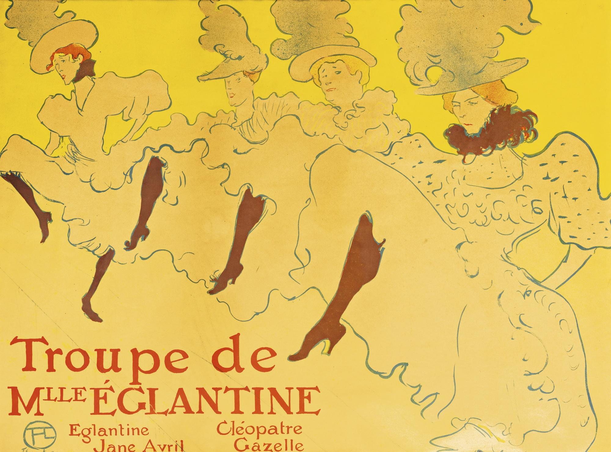 Henri de Toulouse-Lautrec-La Troupe De Mademoiselle Eglantine (D. 361; Adr. 162; W. P21)-1896