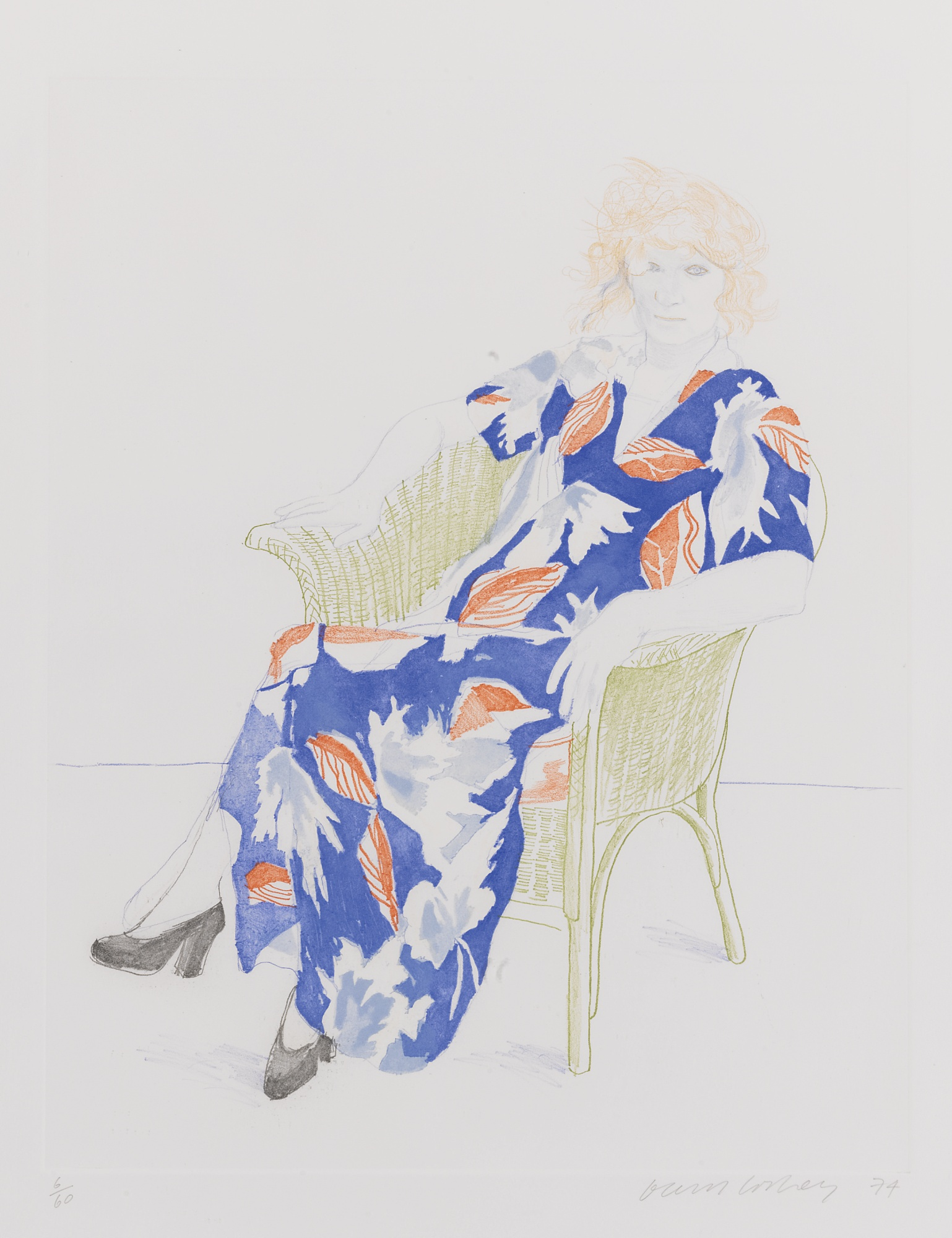 David Hockney-Celia In A Wicker Chair (Museum Of Contemporary Art Tokyo 158) -1974